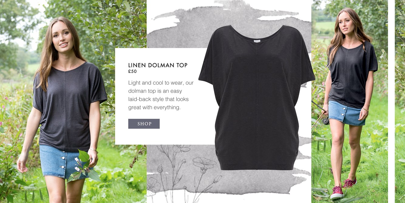 Linen Dolman Top