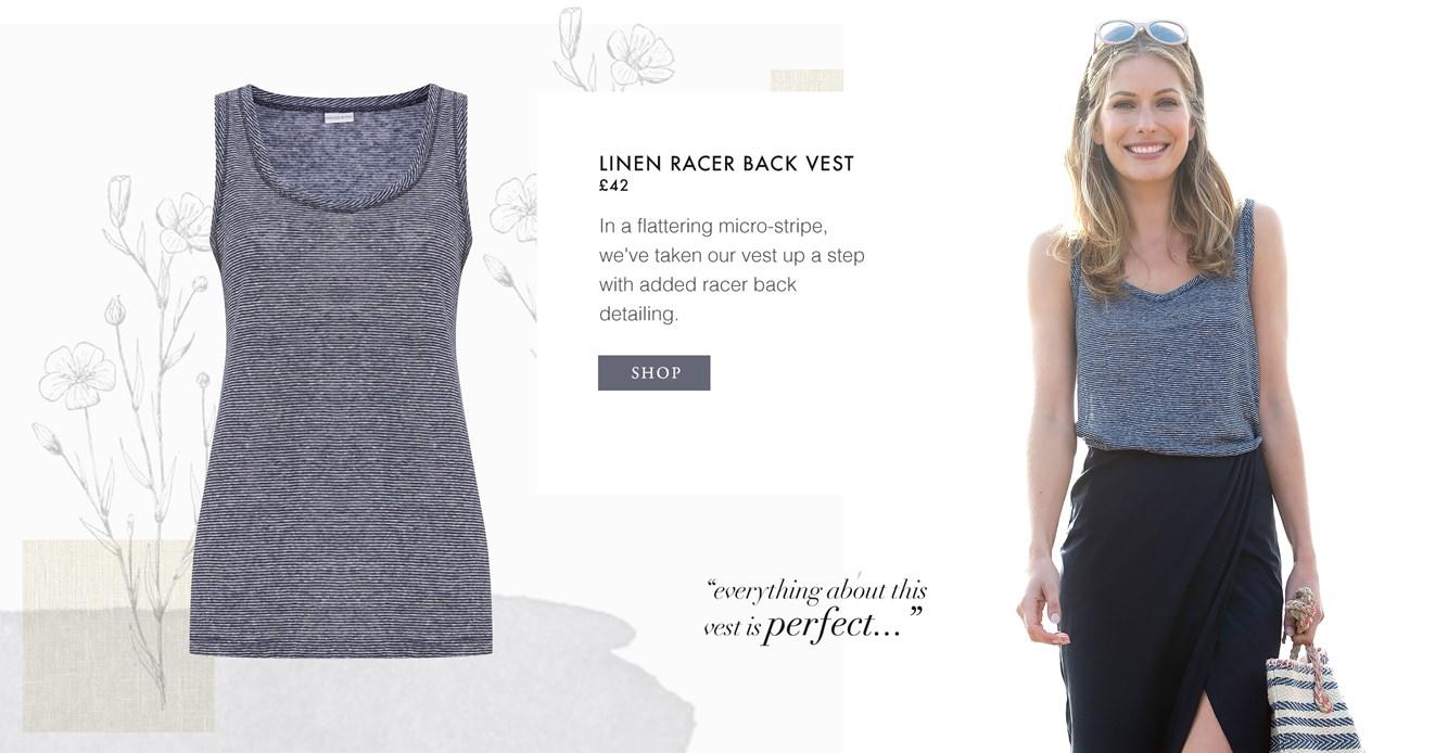 Linen Racer Back Vest