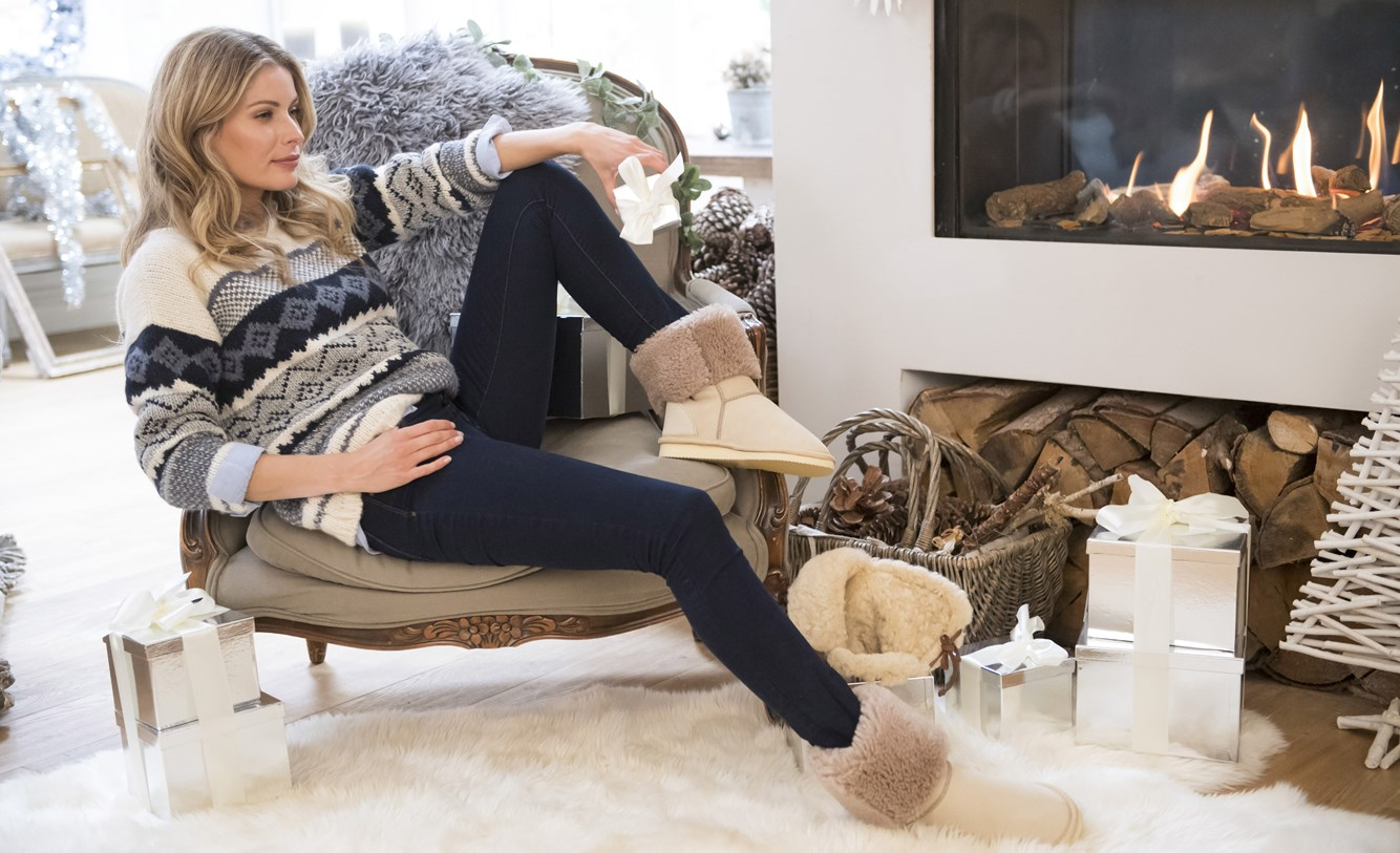 nordic jumper £155, house boots – calf height £145, yeti rug £85, sheepskin rug £345, sheepskin denver hat £120.jpg