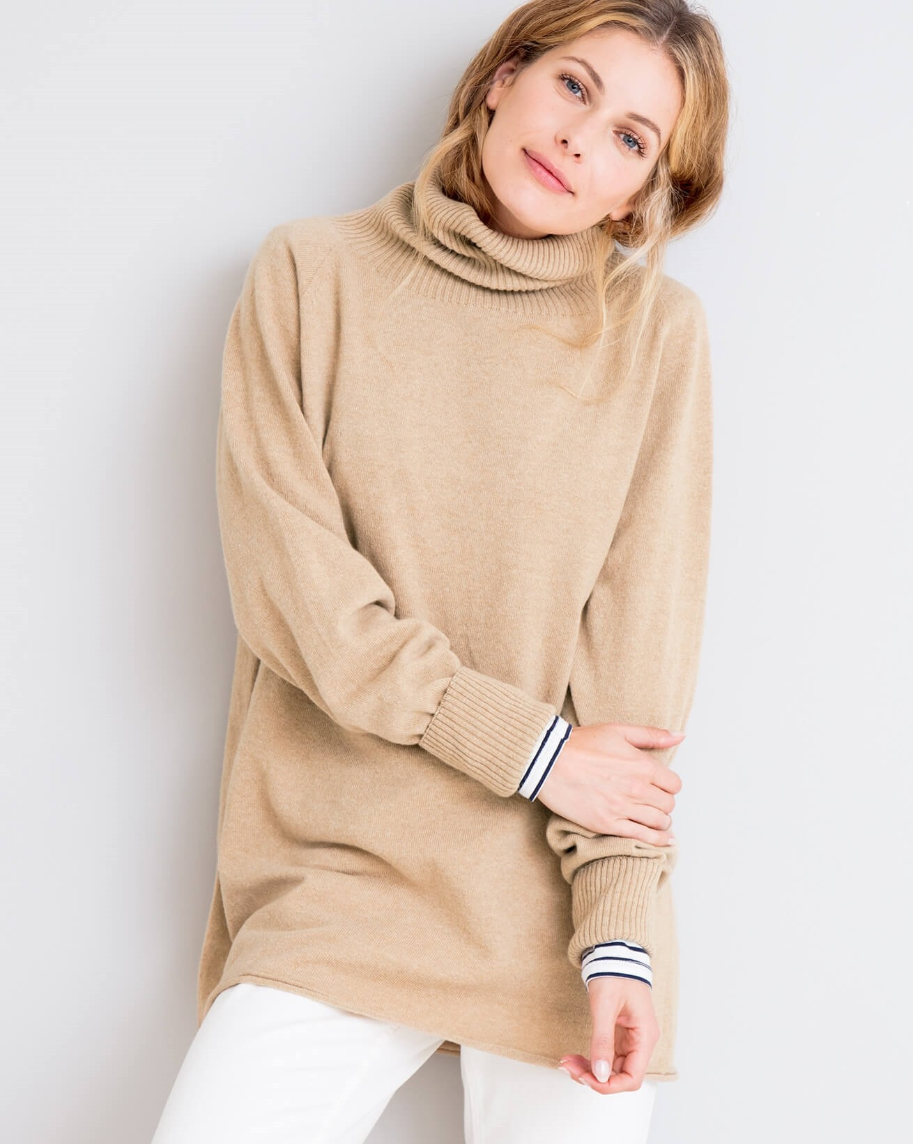3e78780a5f9 Geelong Slouch Roll Neck. Double tap to zoom