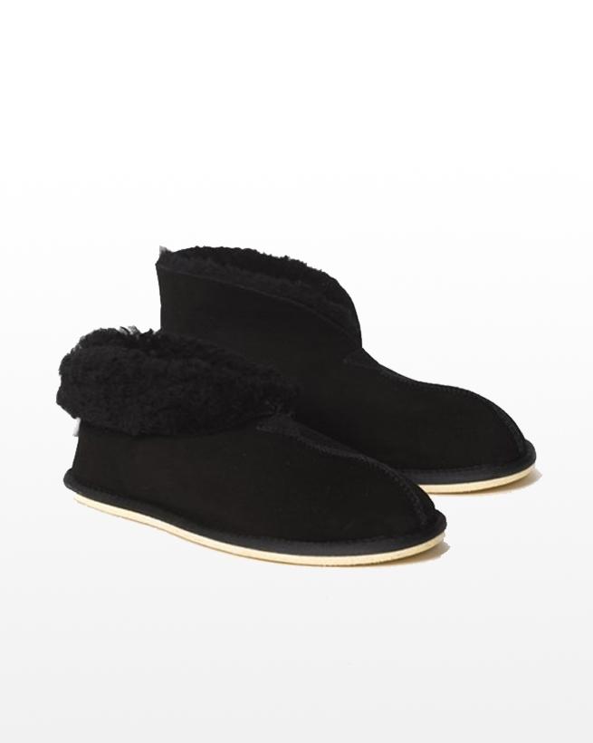 Men's Sheepskin Bootee Slipper - Size 9 - Black - 2068
