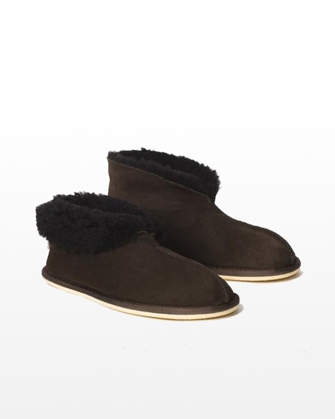 Mens Sheepskin Bootee Slipper - Mocca - Size 9 - 2495