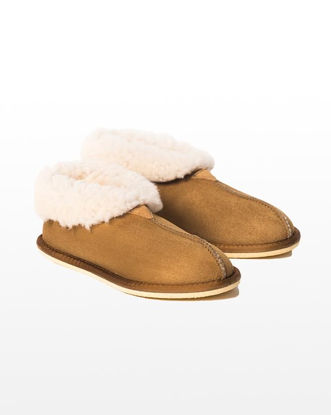 Ladies Sheepskin Bootee Slipper - Size 6 - Spice - 2037
