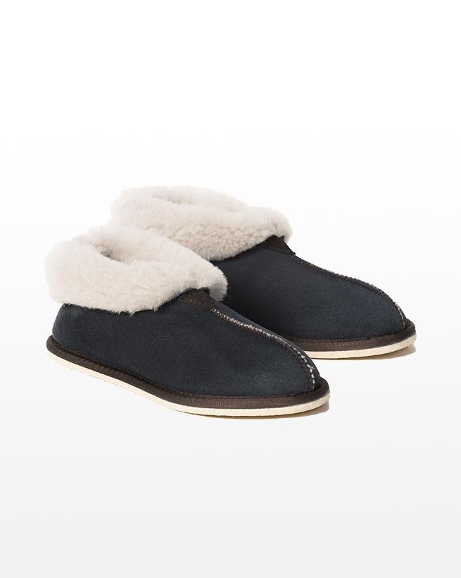 Sheepskin Bootee Slipper - Size 5 - Blue Iris - 1302