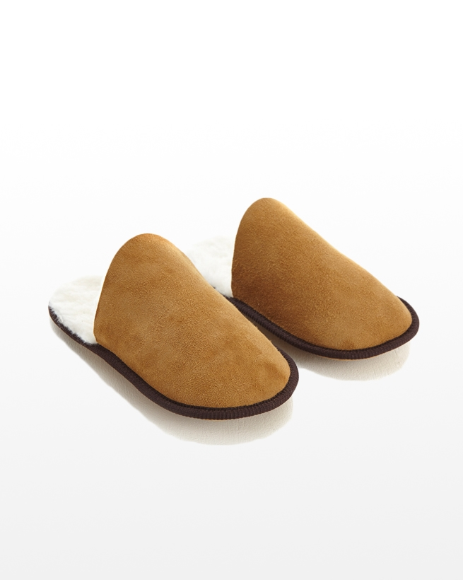 Sheepskin Scuffs - Size Medium - Spice - 2080