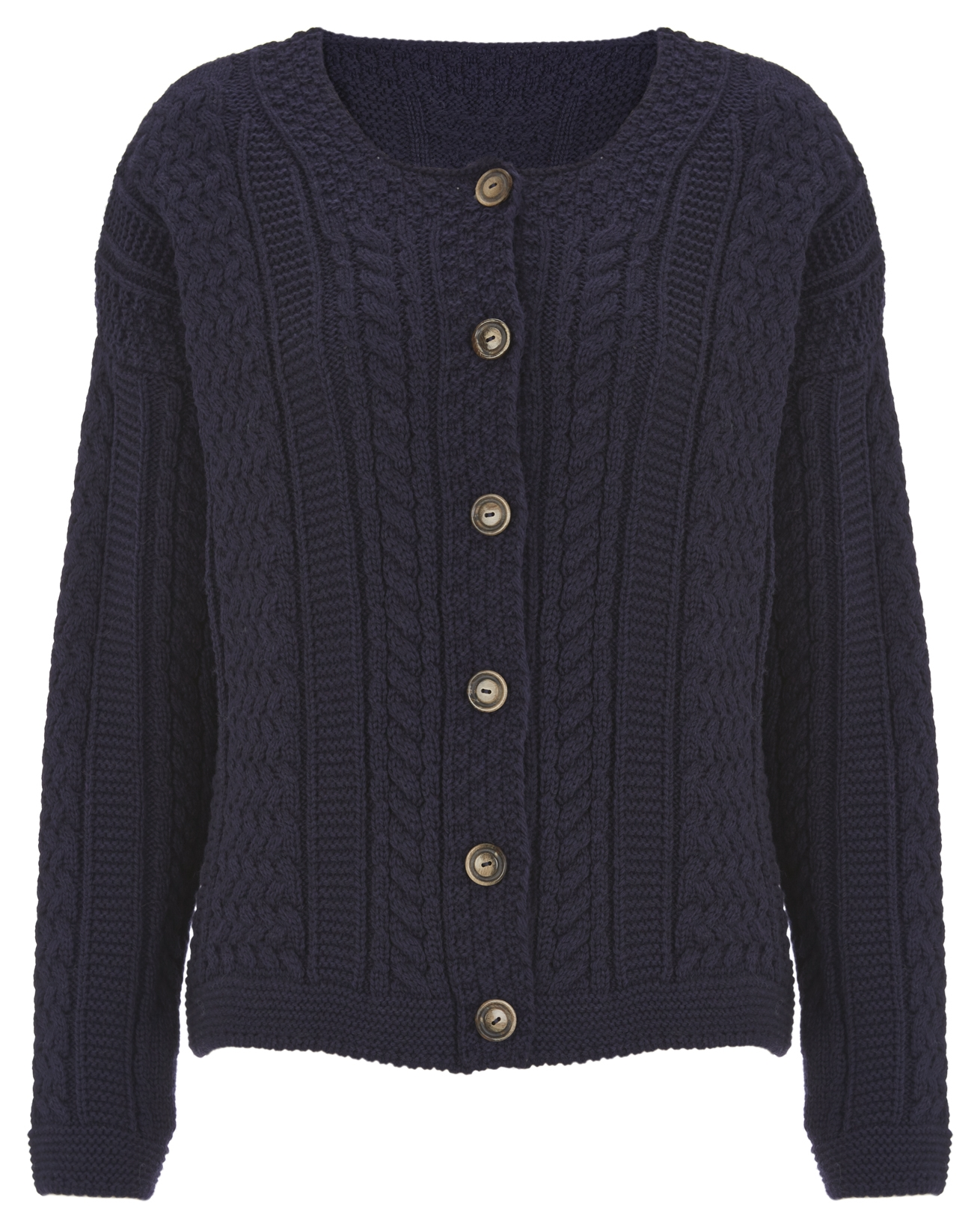 Cable Cardi - Small - Navy - 908