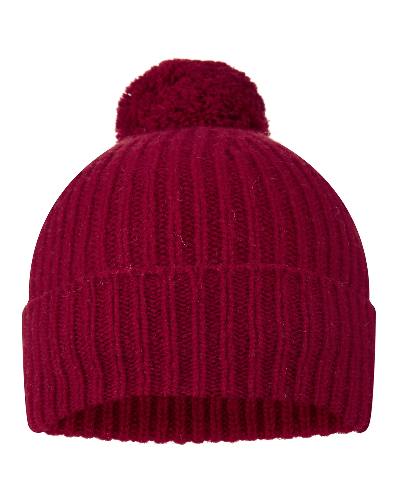Lambswool Ribbed Pom Pom Hat
