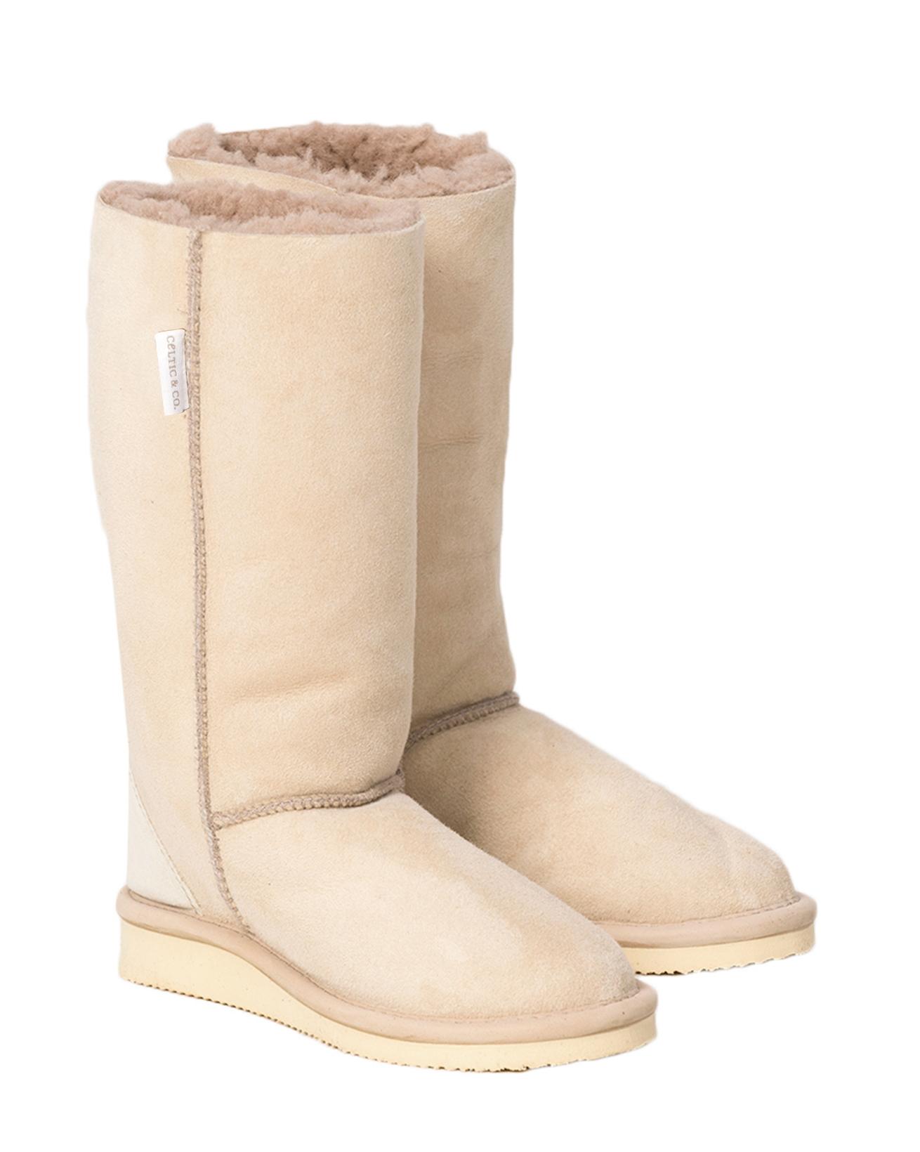 House Boots Calf - Size 3 - Oatmeal - 1995