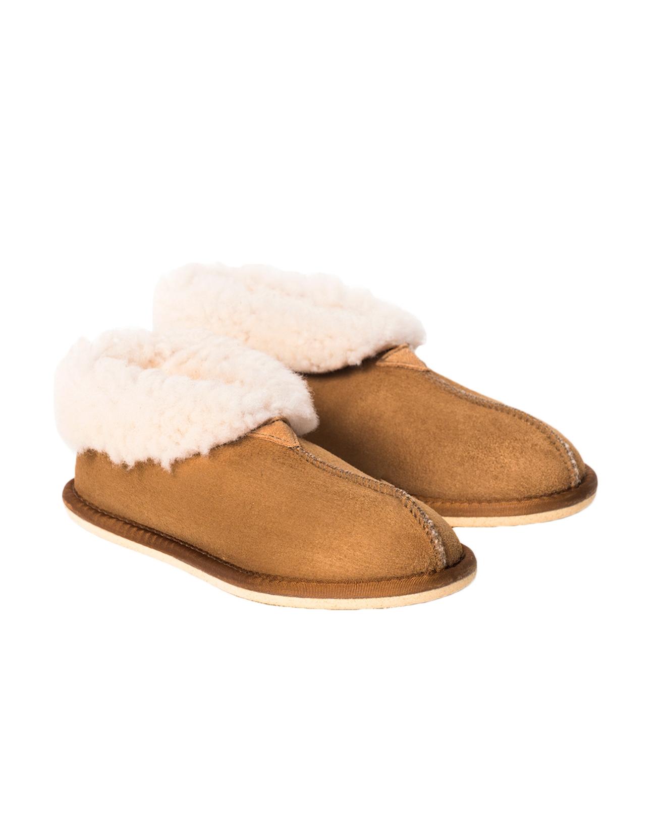 Ladies Sheepskin Bootee Slipper - Size 5 - Spice - 1722