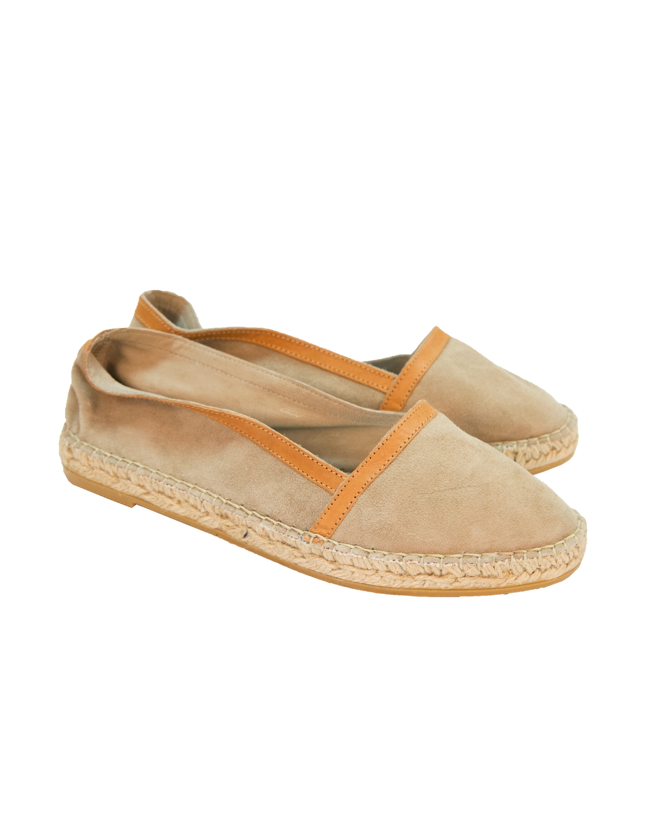 Suede Venetian Espadrille - Size 37 - Taupe - 76