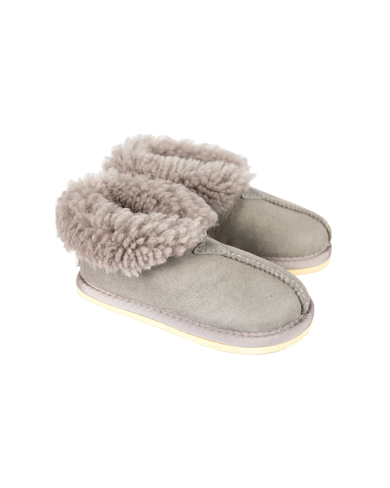 Kids Bootee Slippers - Size 11-12 - Light Grey - 1313