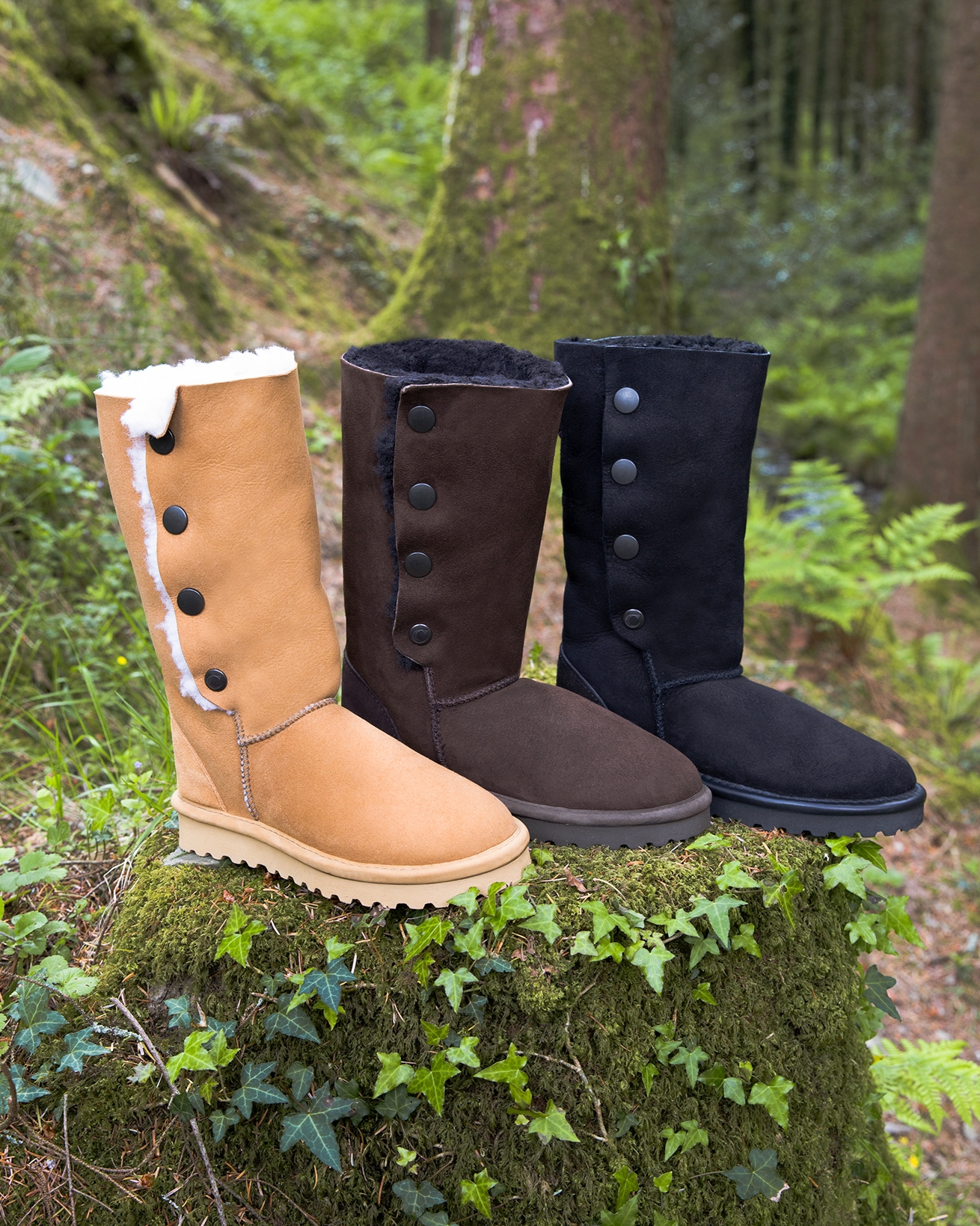 Popper Boots - Calf Height