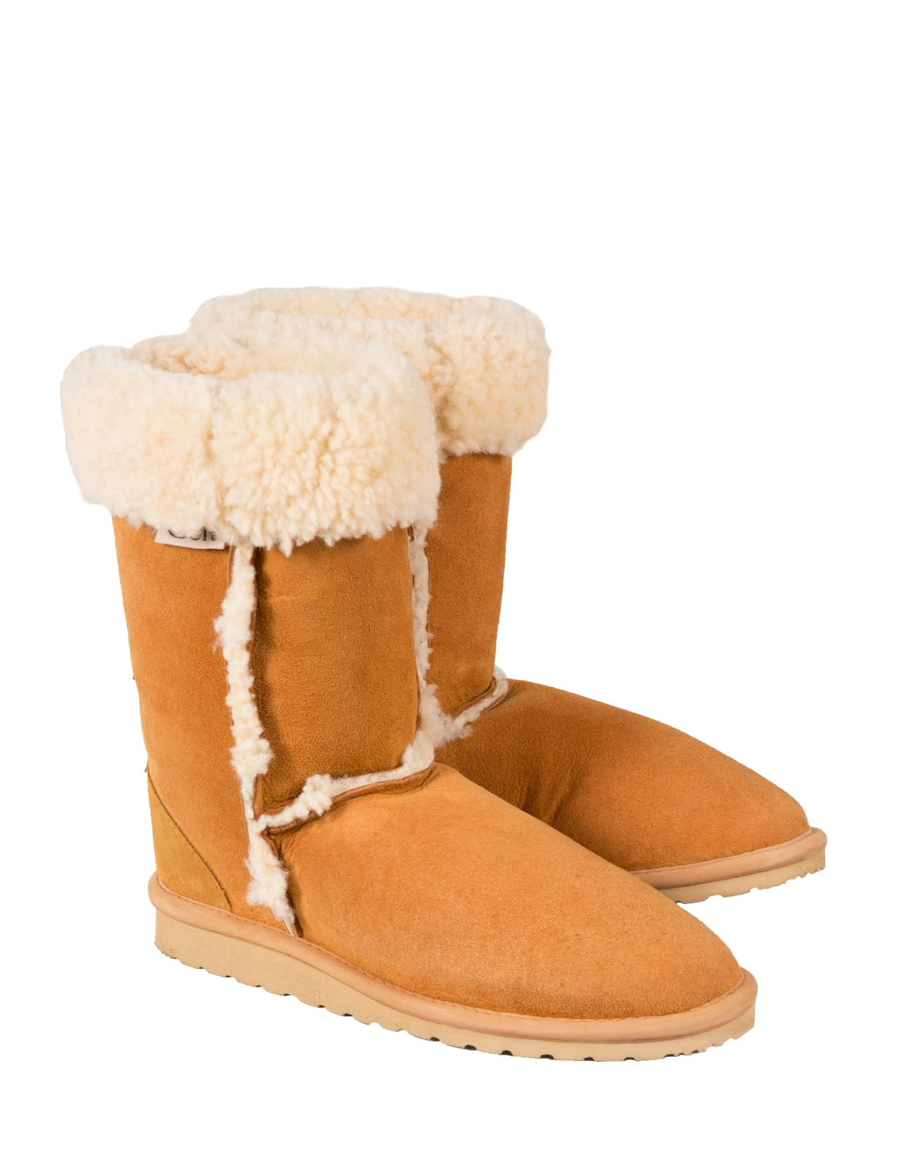 Mens Sheepskin Rustic Boots - Size 12 - Whisky - 177