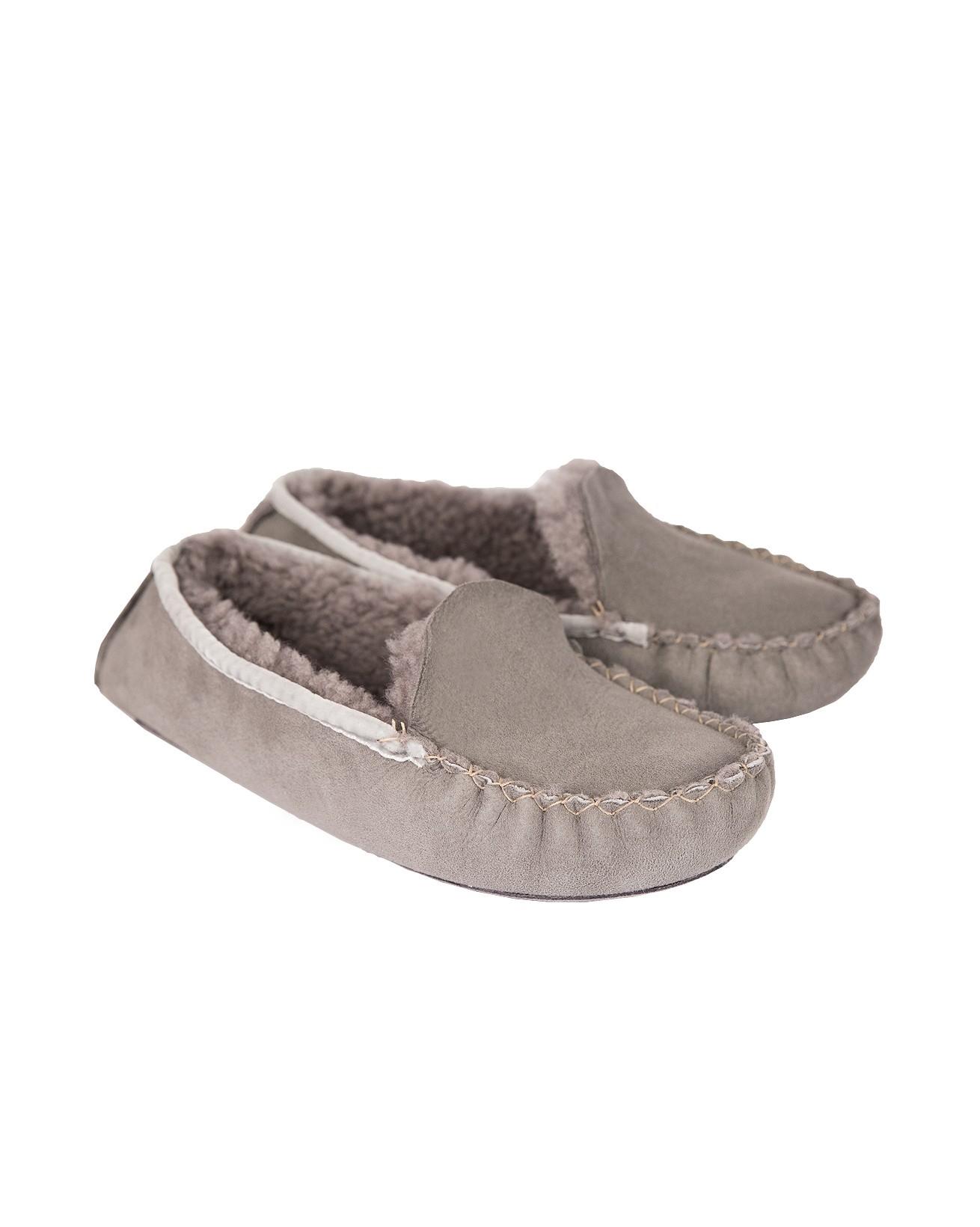 Dena Moccasins - Size 4 - Grey - 797