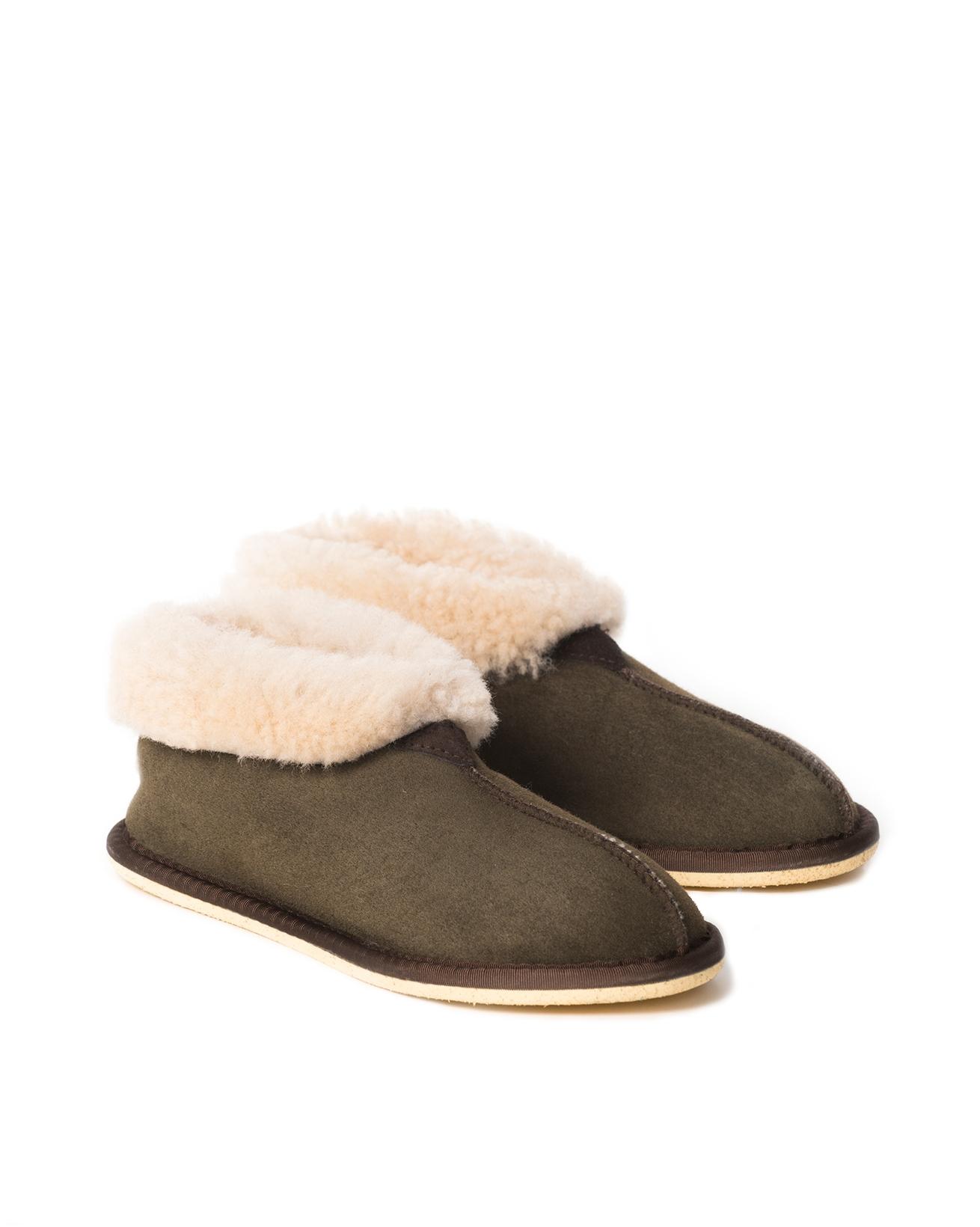 Ladies Sheepskin Bootee Slipper - Size 6 - Moorland - 2072