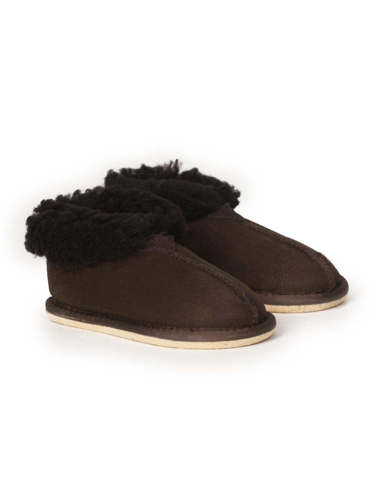 Kid's Sheepskin Bootee Slipper - Size 13-1 - Mocca - 2036