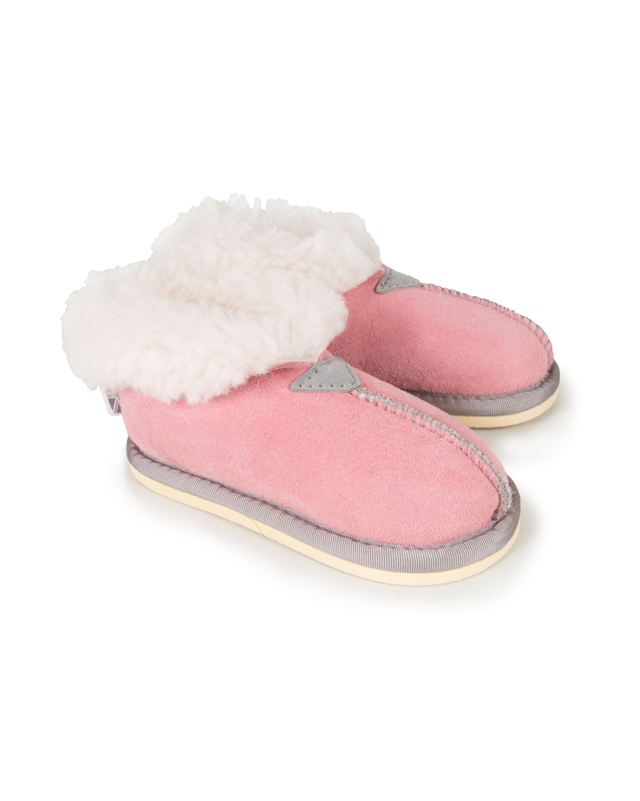Kids Bootee Slippers - Size 5-6 - Pink - 1178