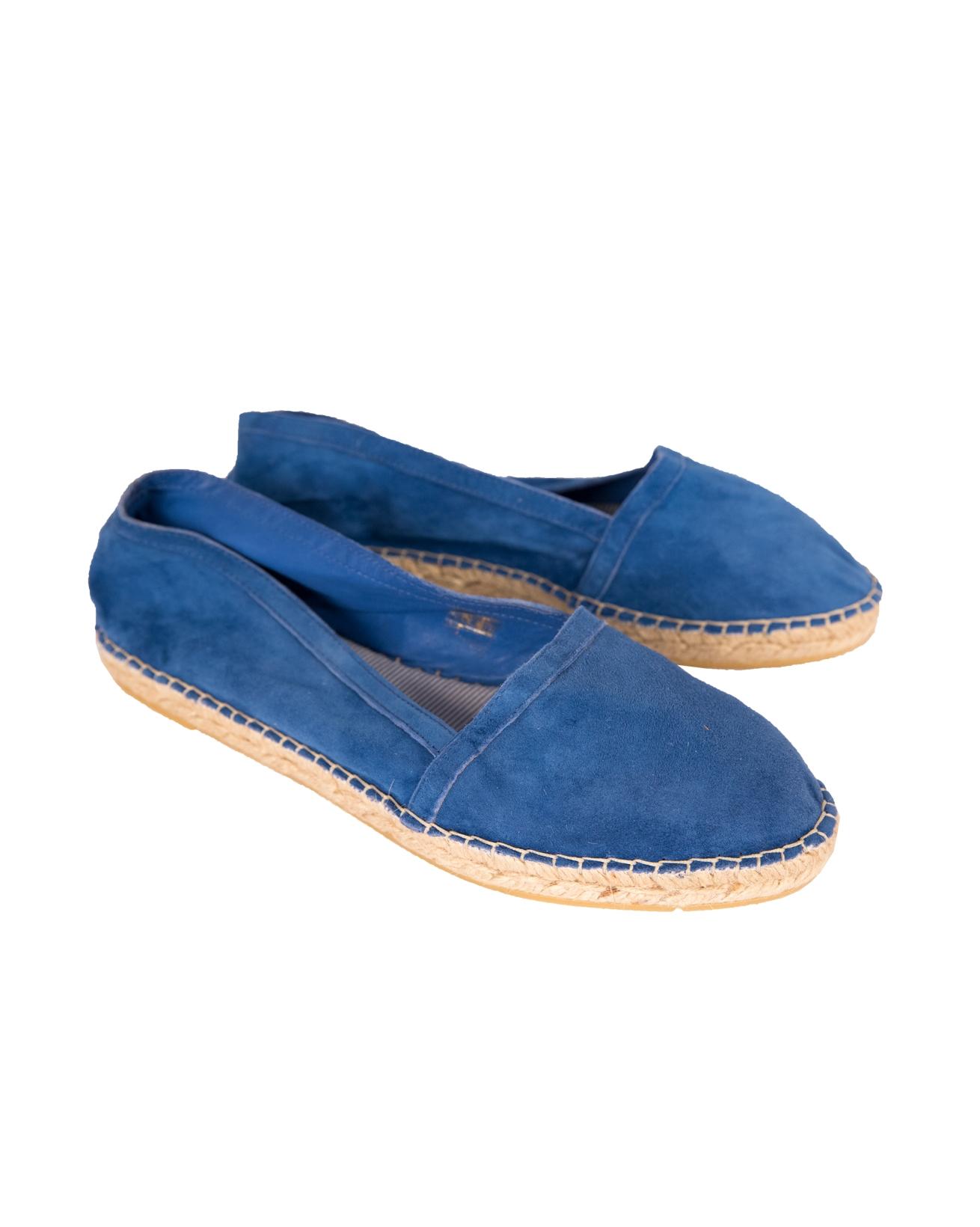 Flat Espadrille - Size 41 - Blue suede - 57b