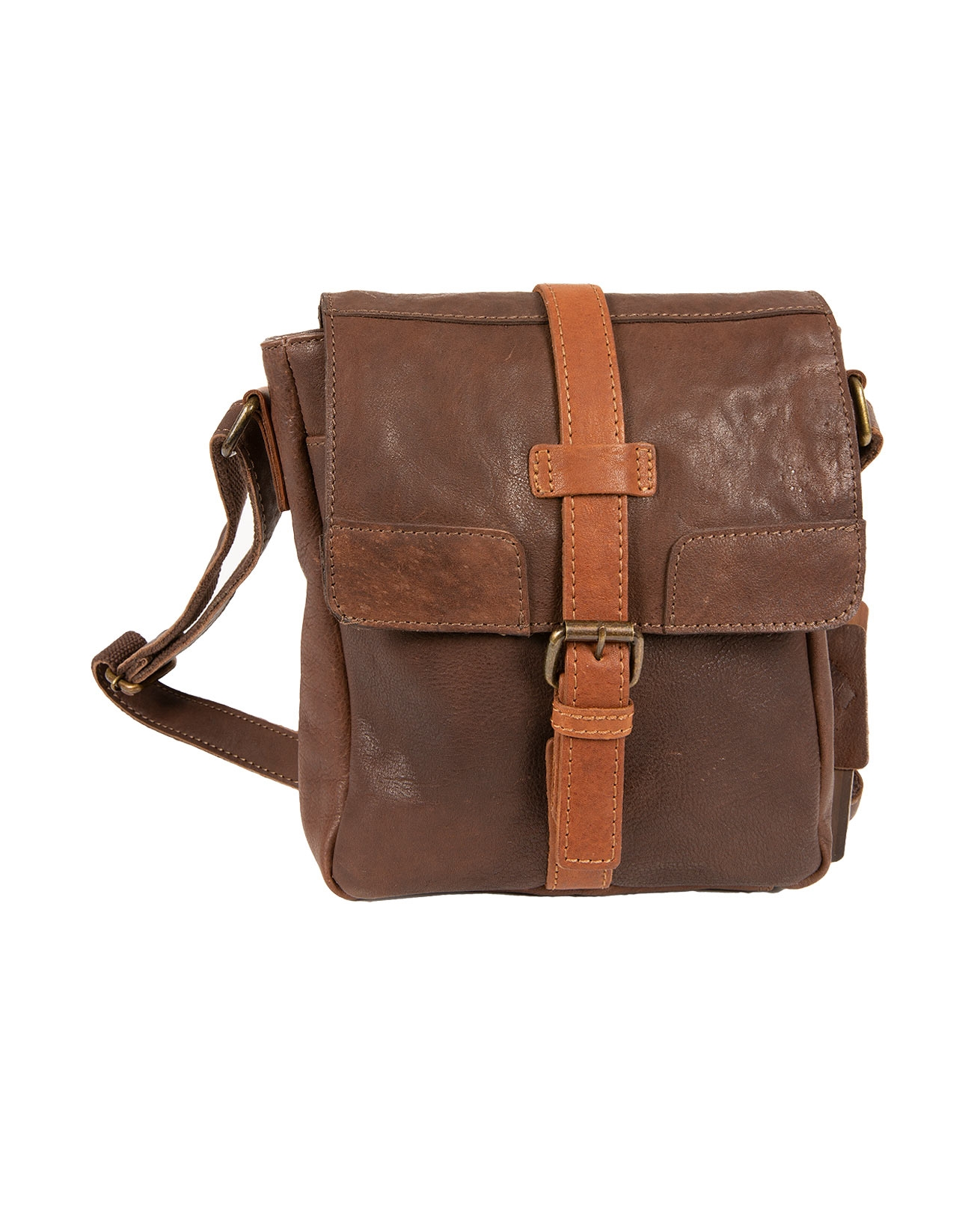 Leather Cross Body Bag - 416
