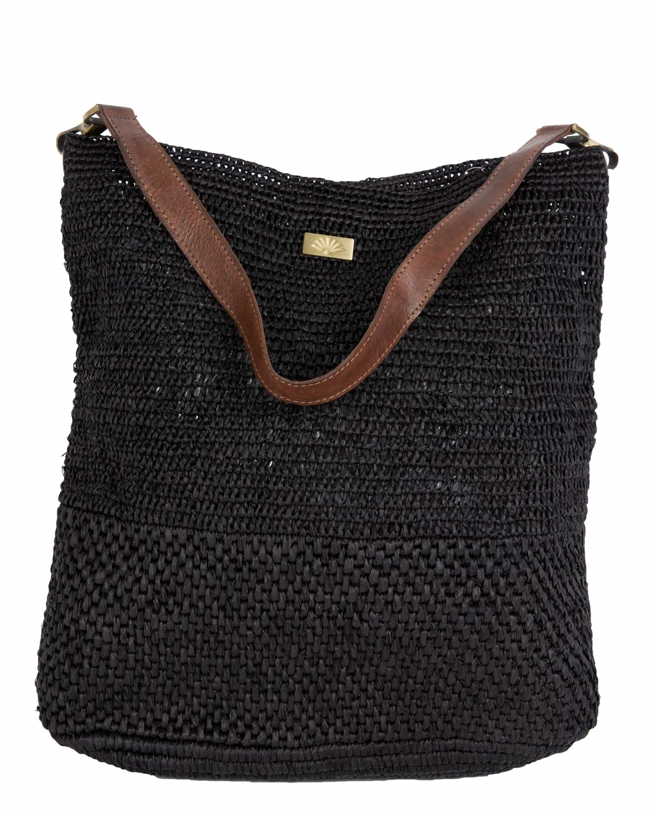 Raffia Navy Shoulder Bag - 419