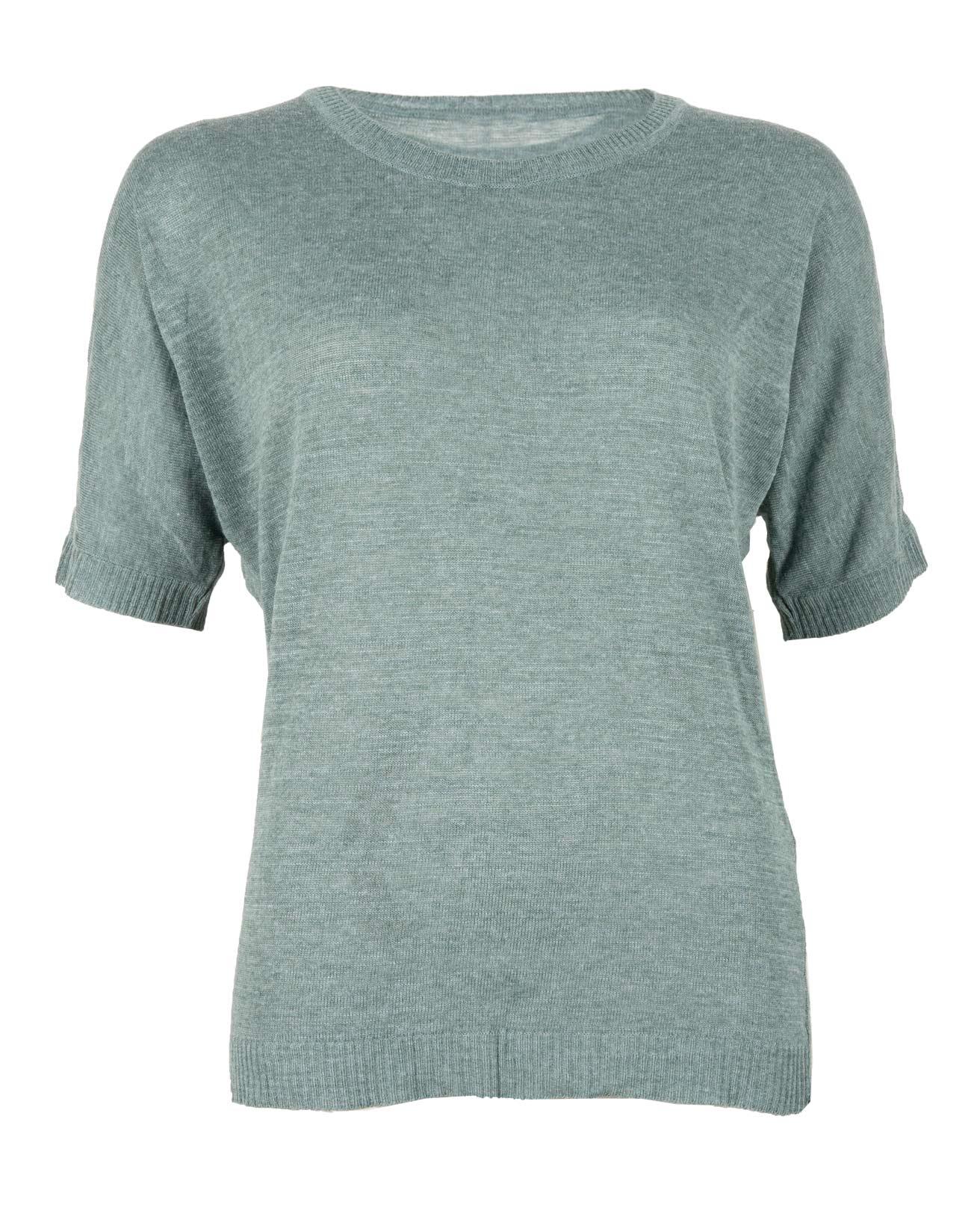 Linen Tshirt - Size Small - Aqua - 428