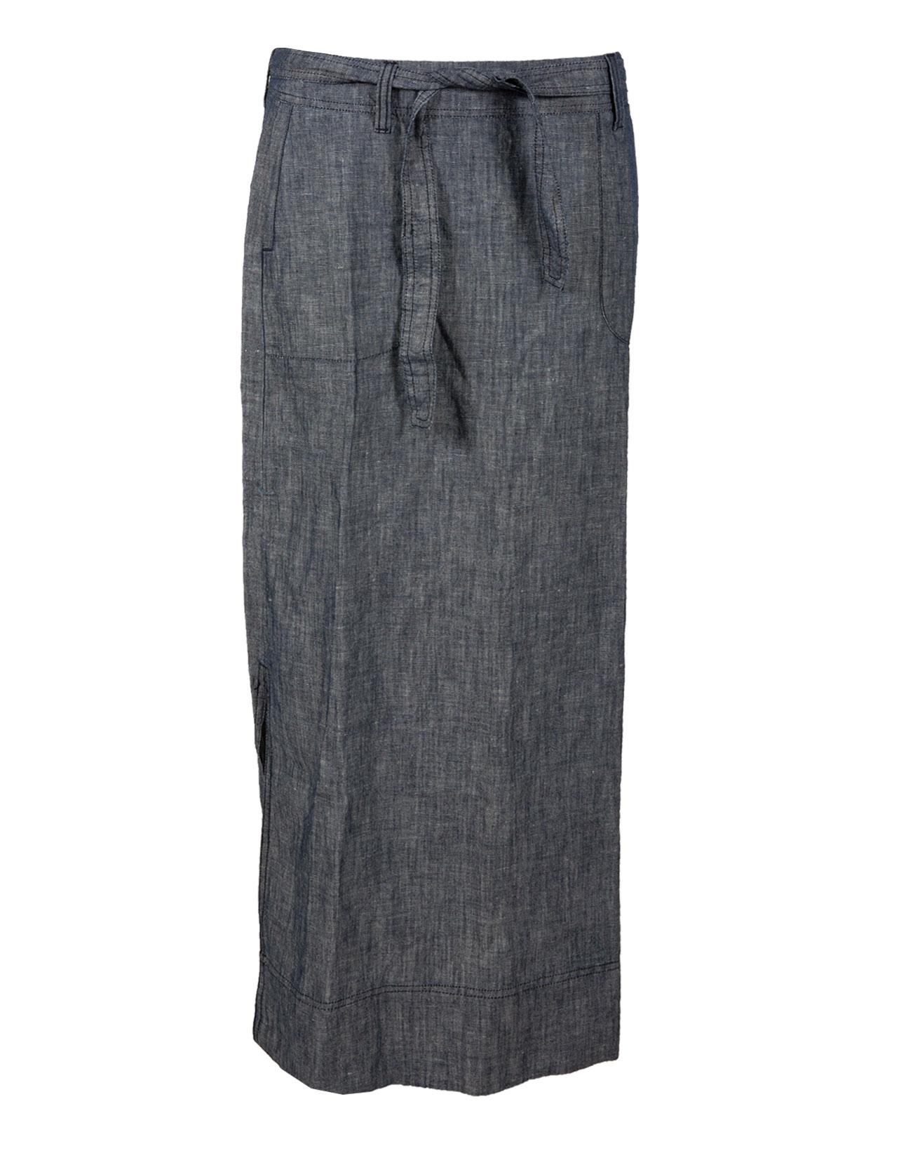 Maxi Chambray Skirt - Size Xsmall - Denim - 449