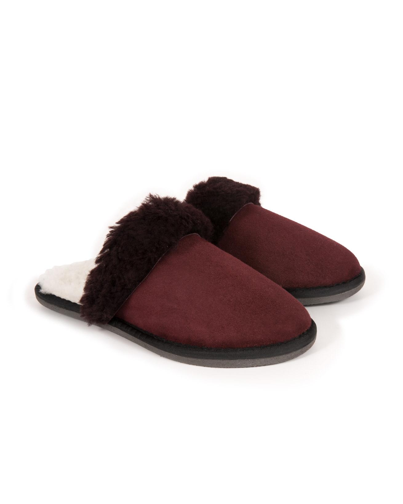 Ladies Turnback Mules - Size 5 - Claret - 988