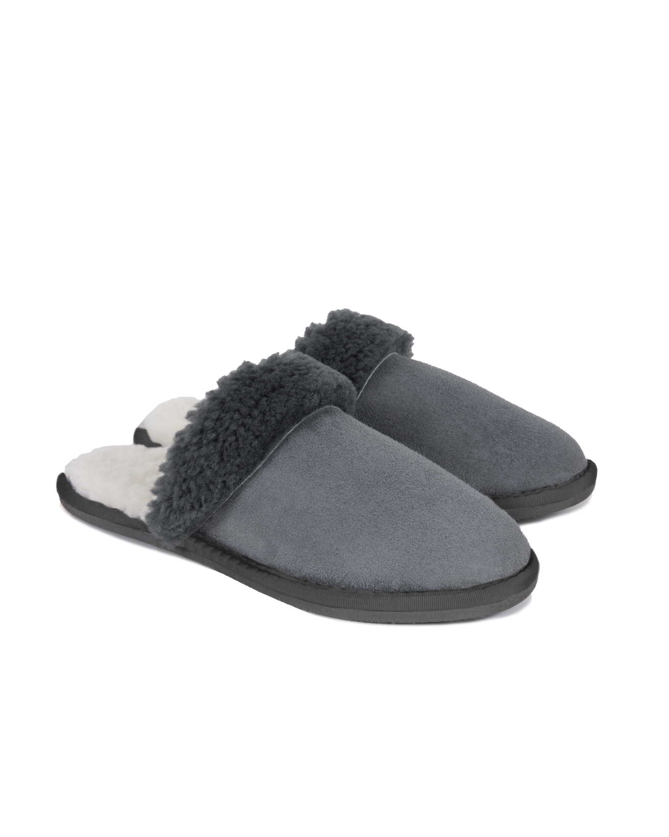 Ladies' Turnback Mules - Size 5 - Dark Grey - 1531