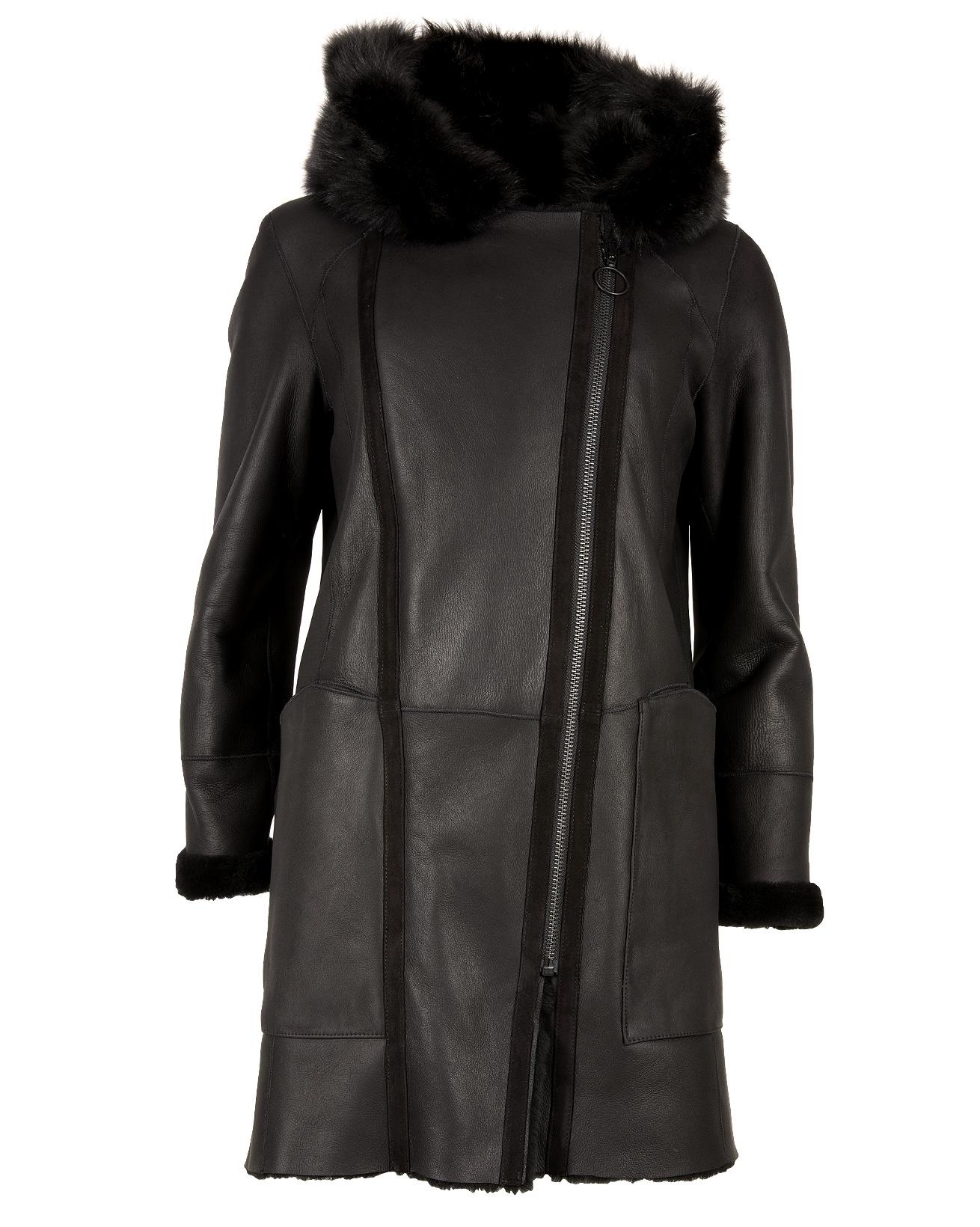 Reversible Merino Double Zip Parka - Size 10 - Black - 1209