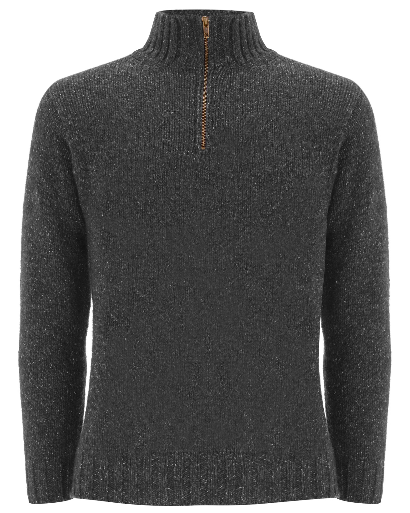 Men's Zip Neck Jumper