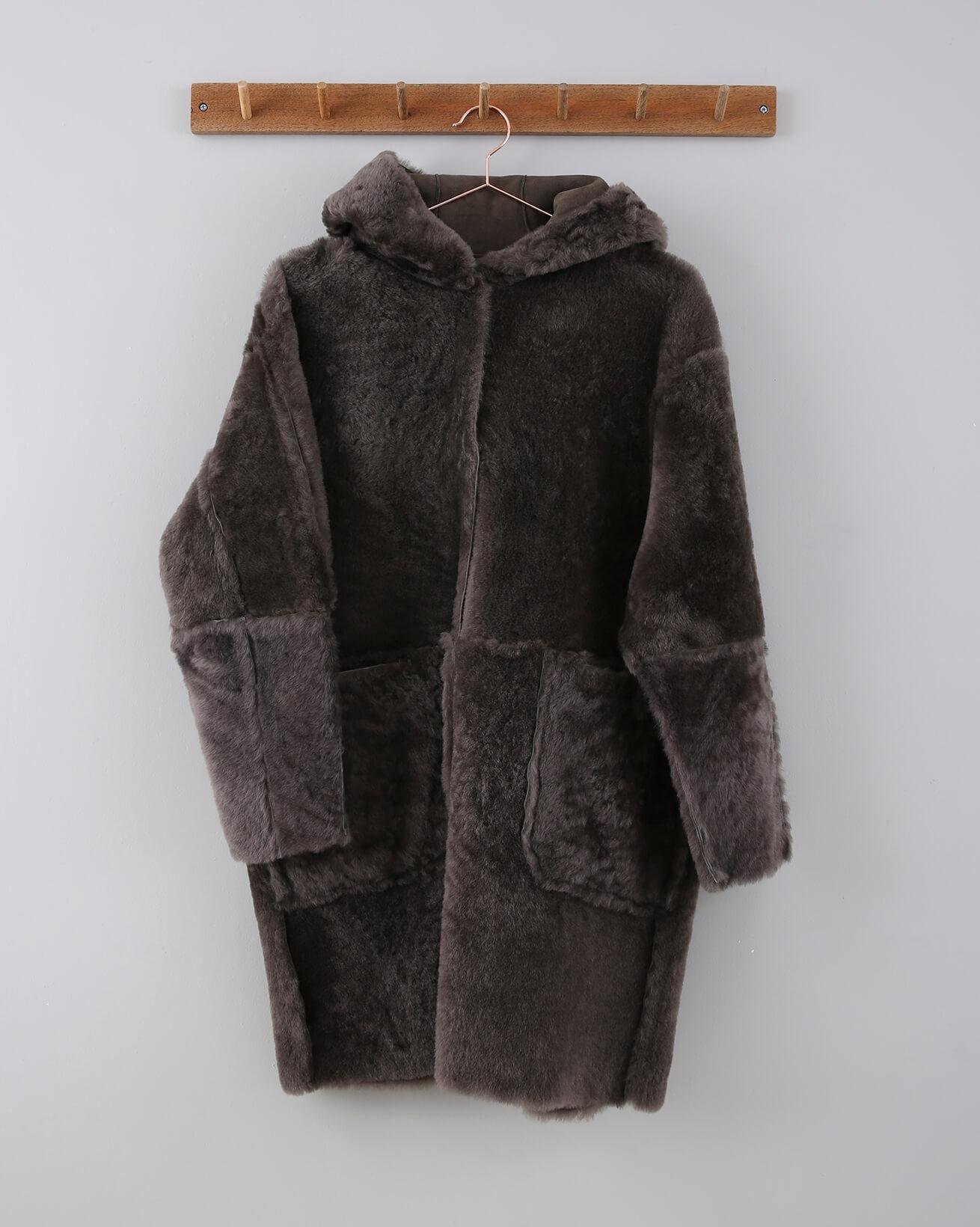 Reversible Hooded Car Coat  - Size 12 - 658