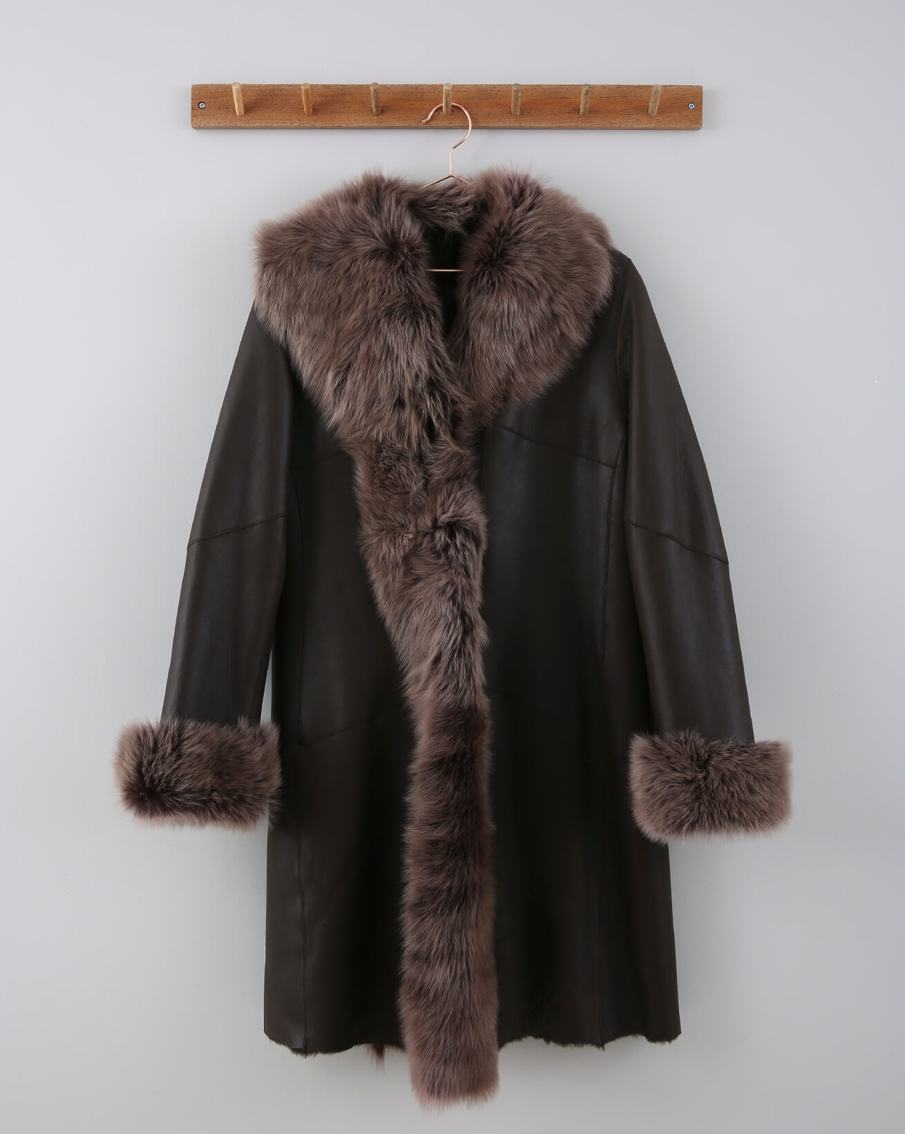 3/4 Toscana Trim Coat - Size XS / S - Dark Brown - 650