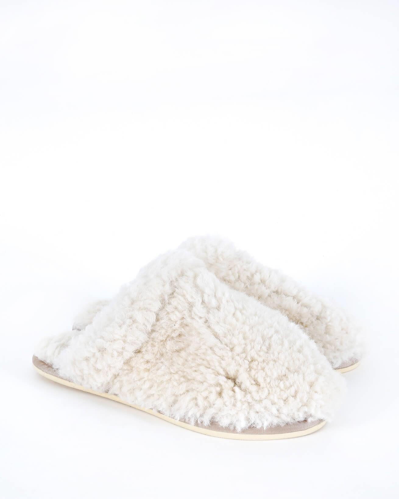 Sheepskin Mules - Size 6 - Oatmeal - 573