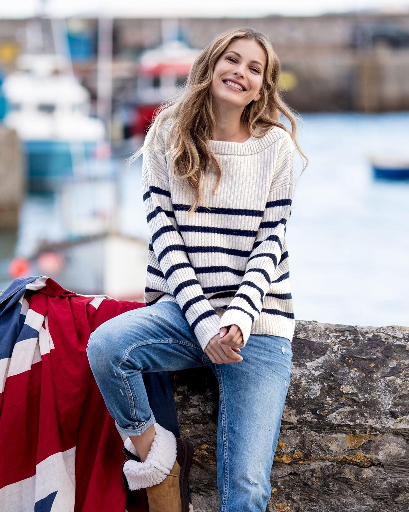 Boat Neck Breton Sweater