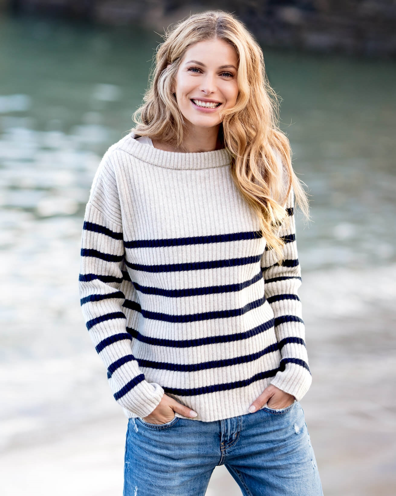 Boat Neck Breton Sweater