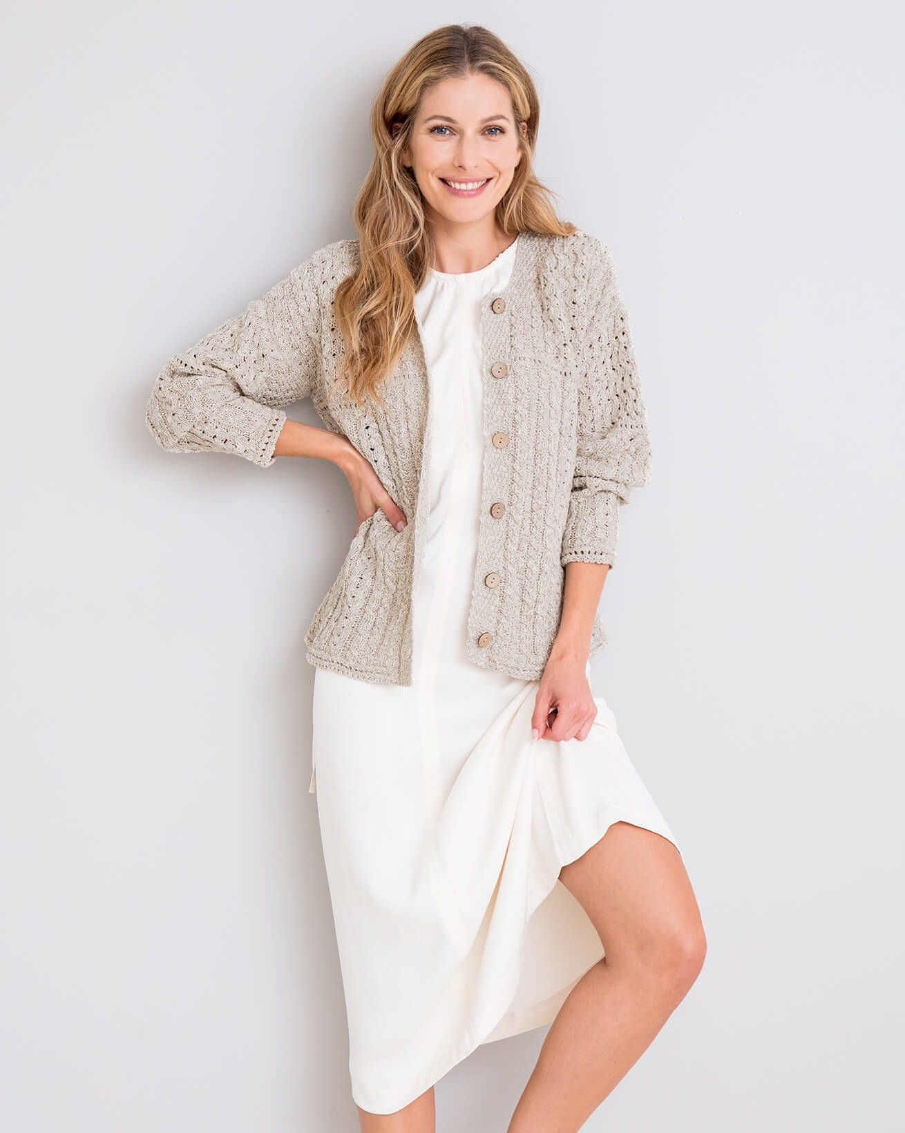 Knitted Linen Cardi