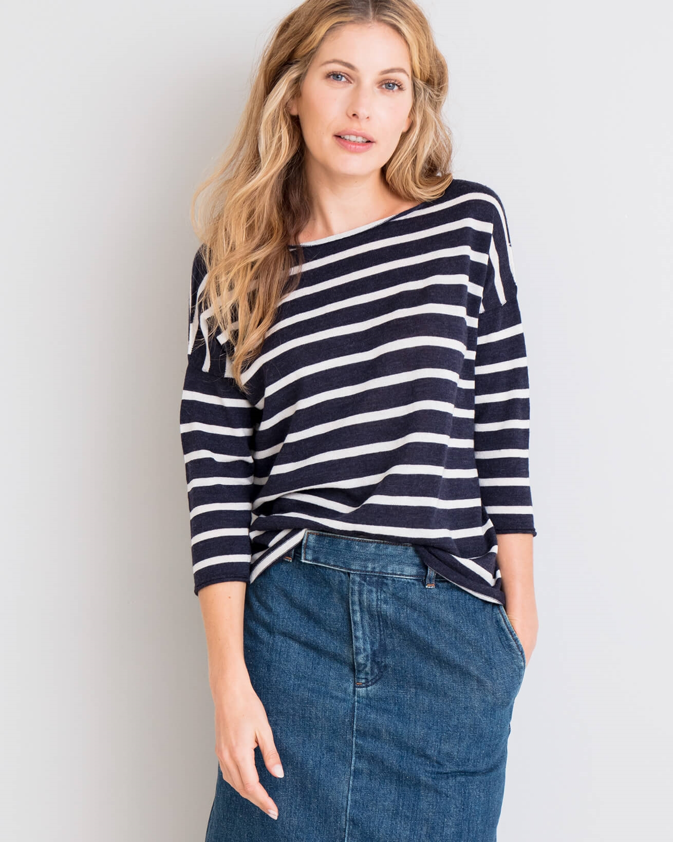 Boat Neck Merino Top