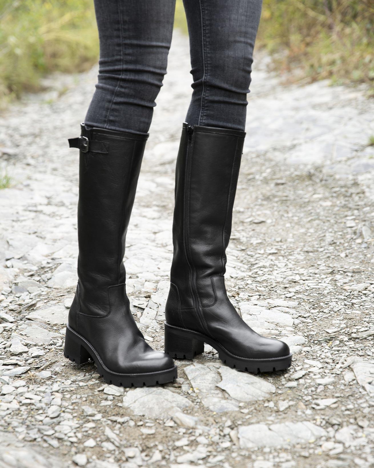 Biker Knee Boots