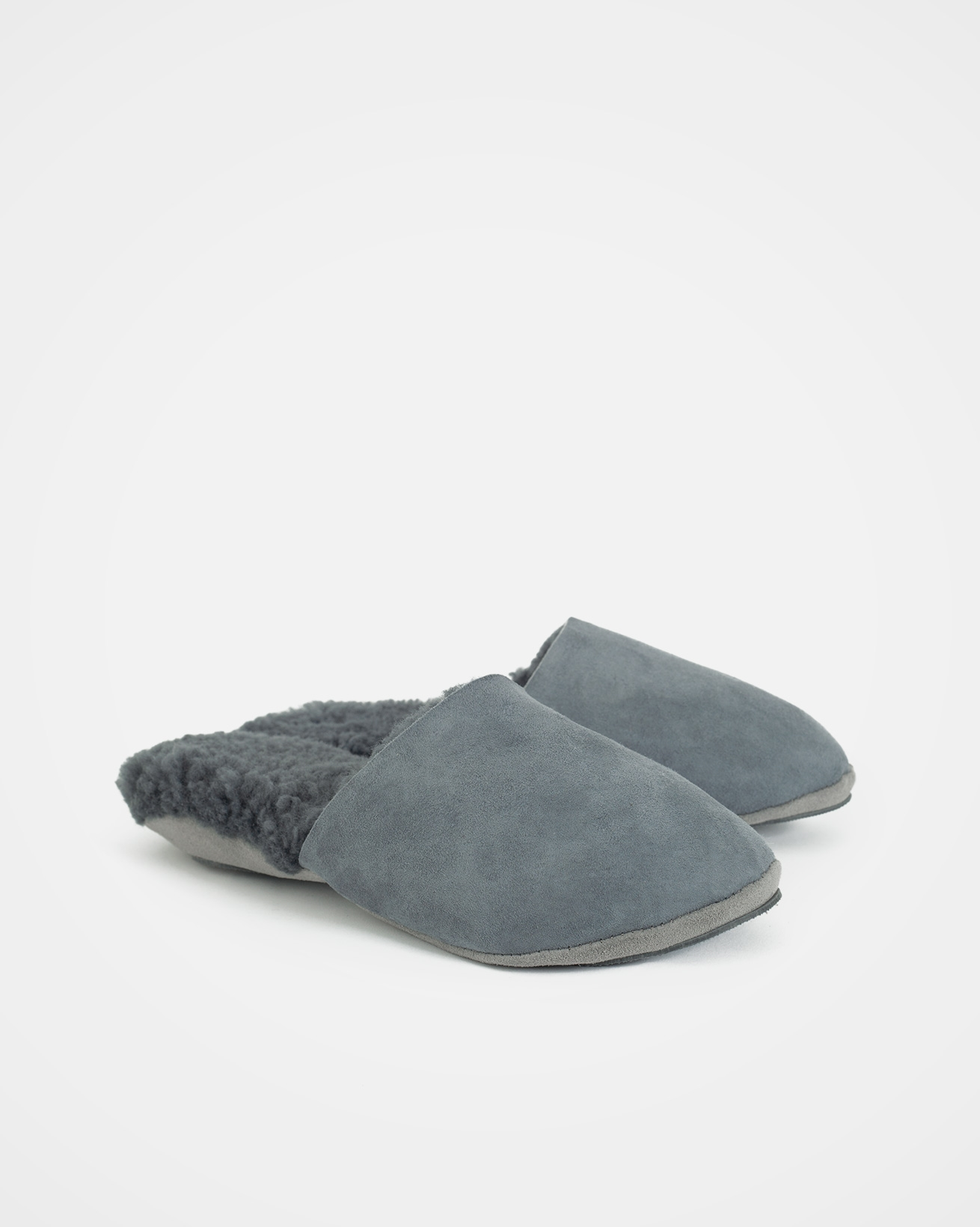 Turned Mules - Size 6 - Dark Grey - 1594
