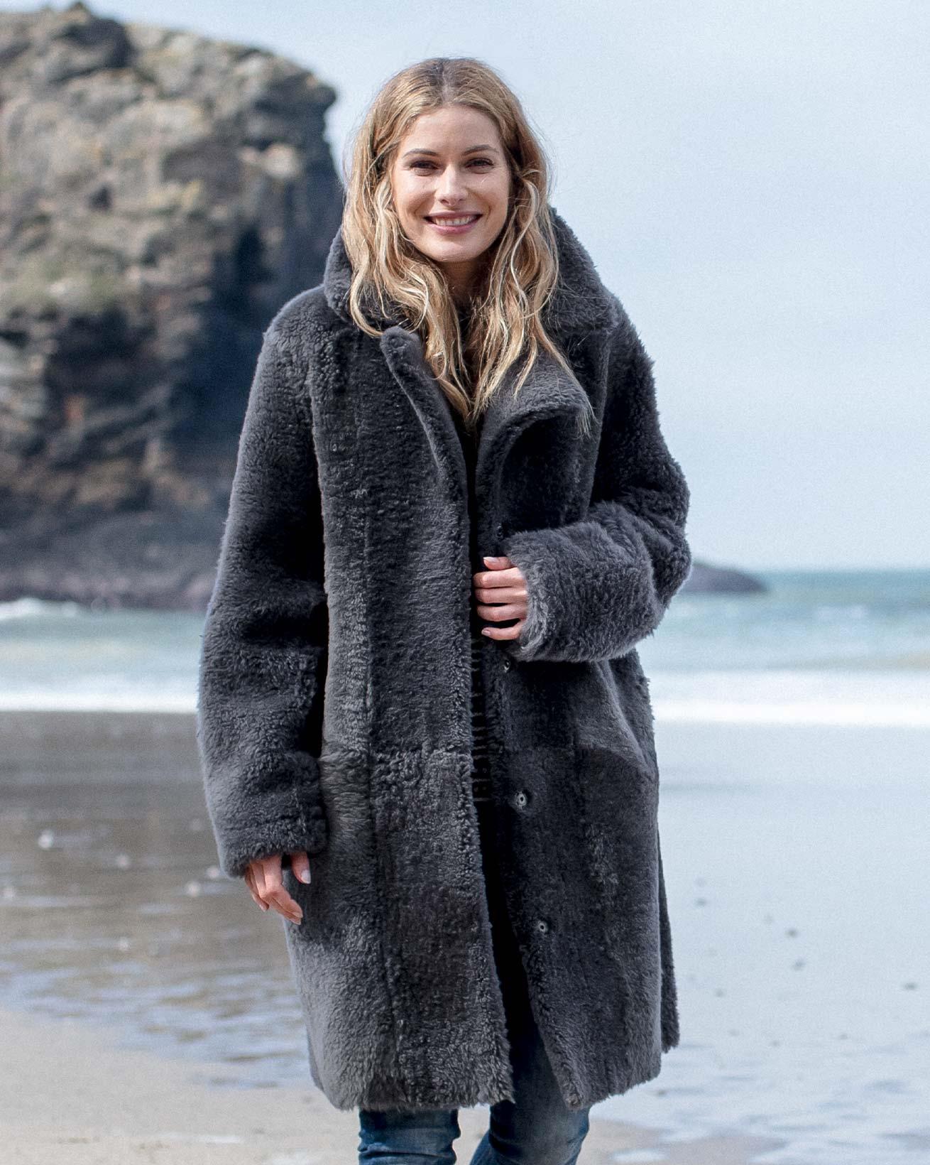 Reversible Cocoon Teddy Coat