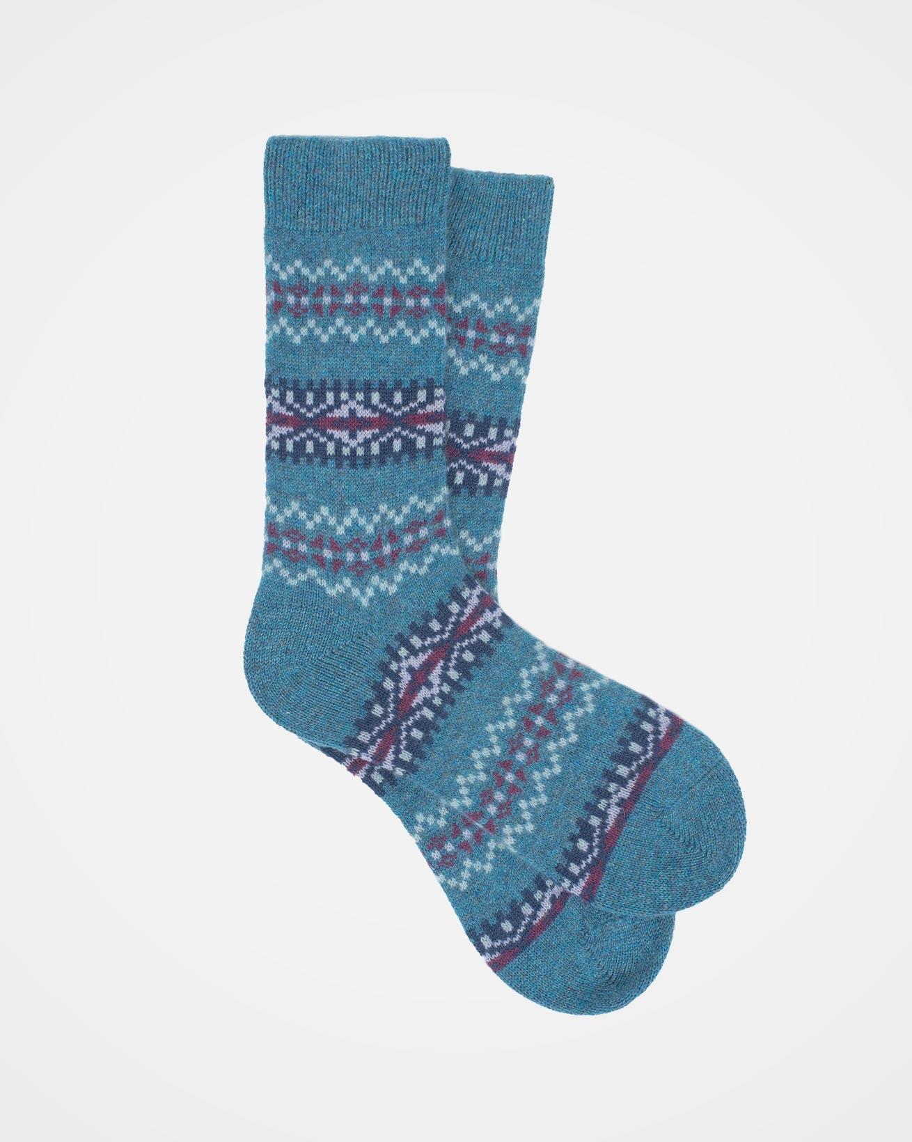 Cashmere Fairisle Socks