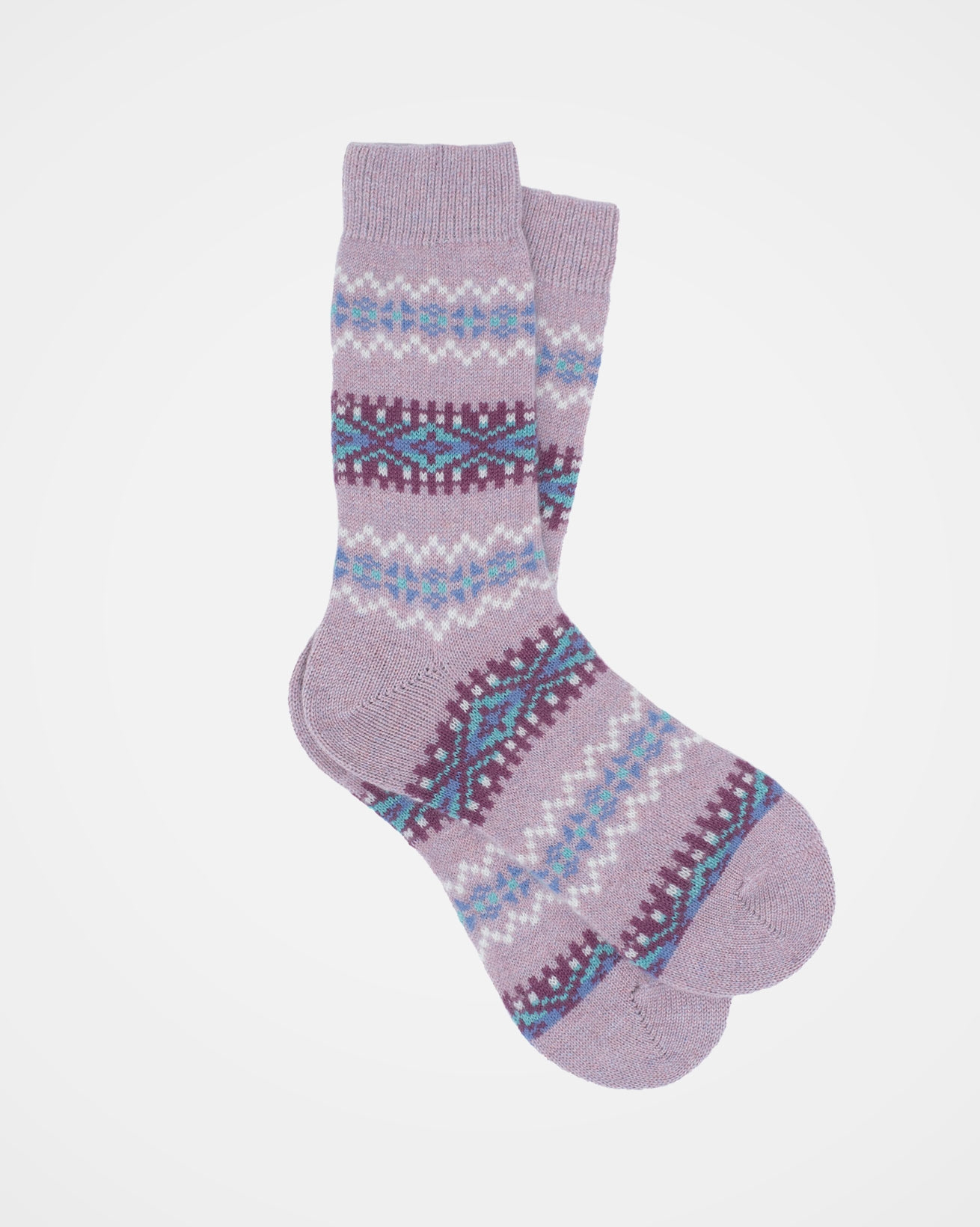 Cashmere Fairisle Socks