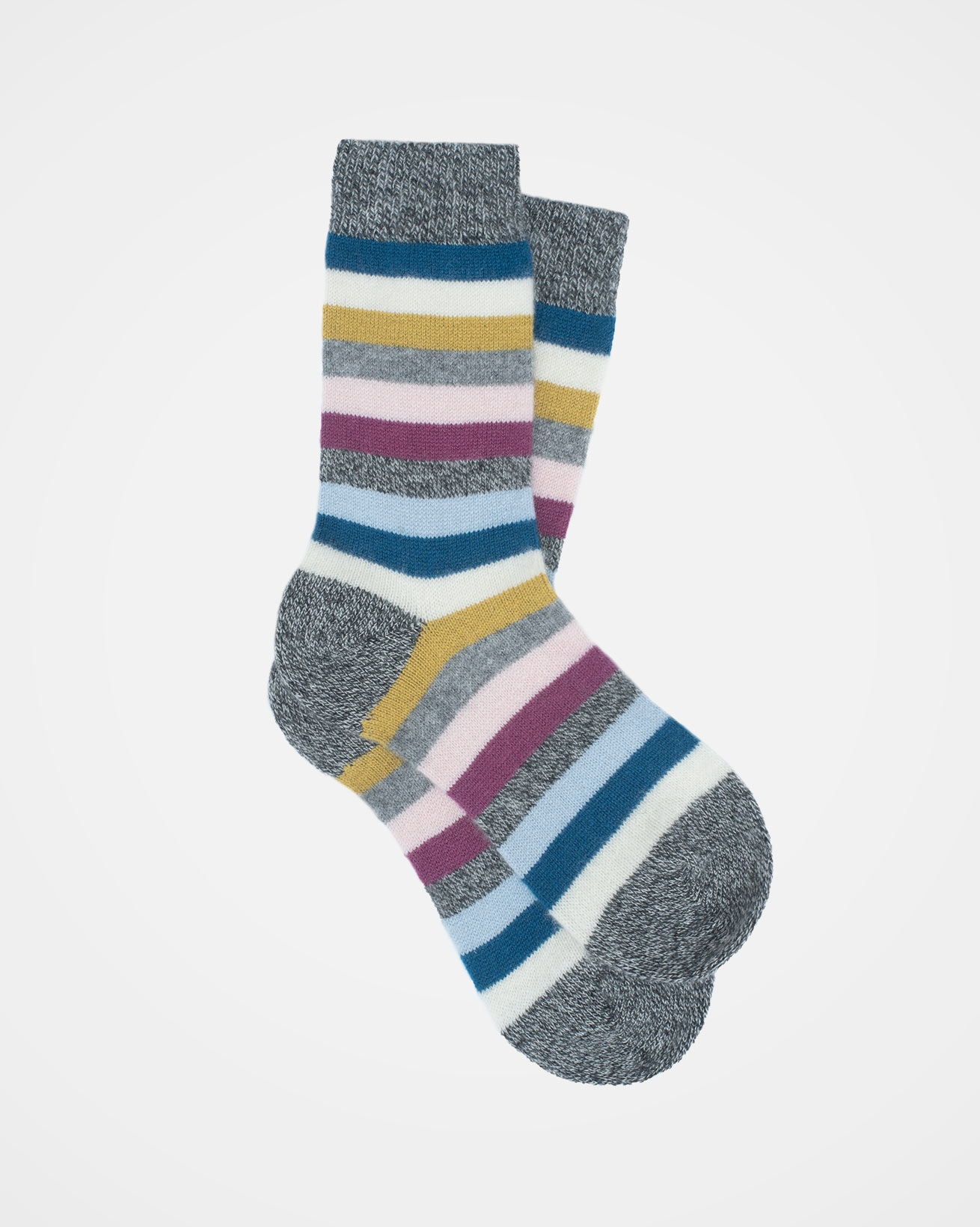 Cashmere Striped Socks