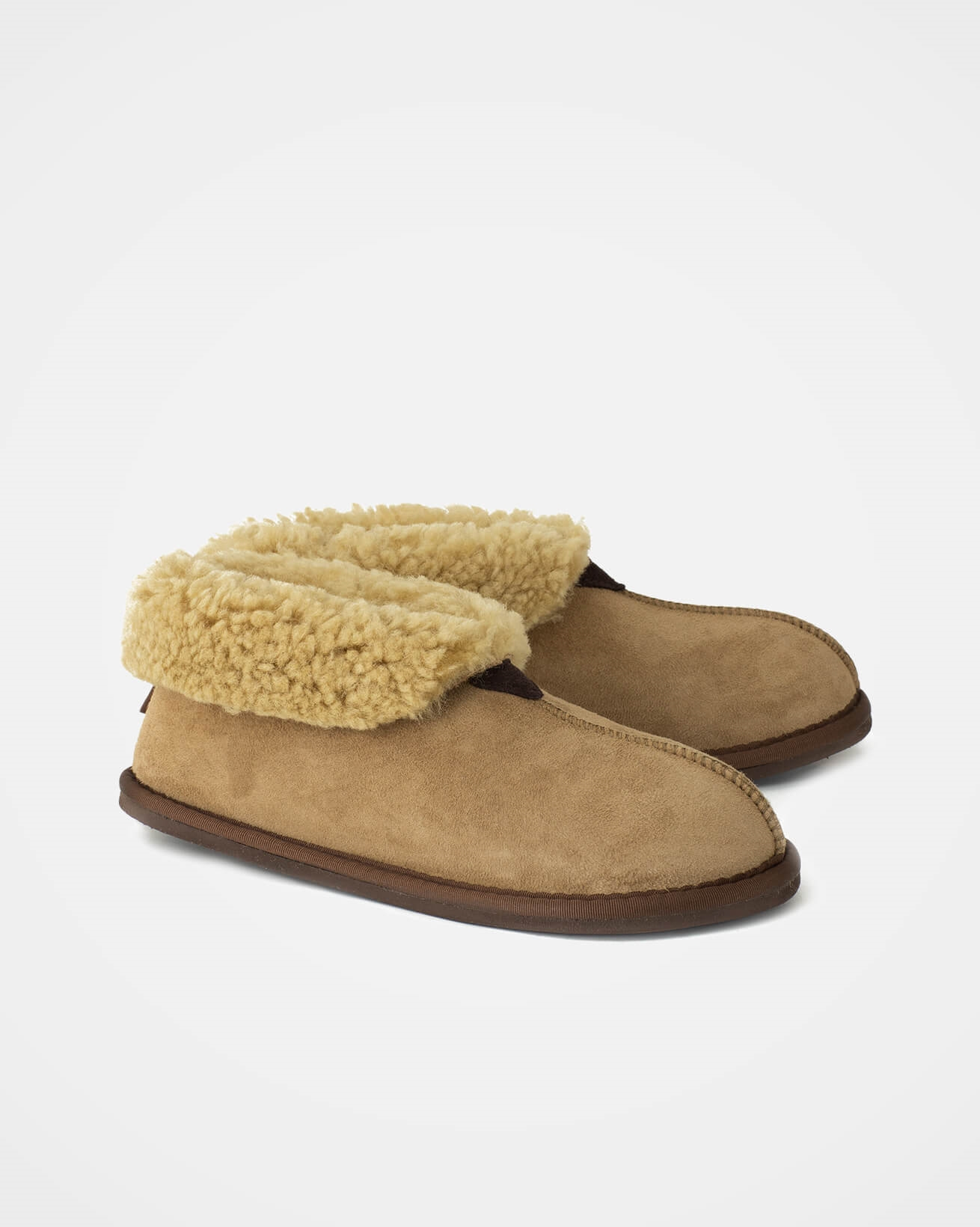 Ladies Sheepskin Bootee Slipper - Size 5 - Teddy - 1631