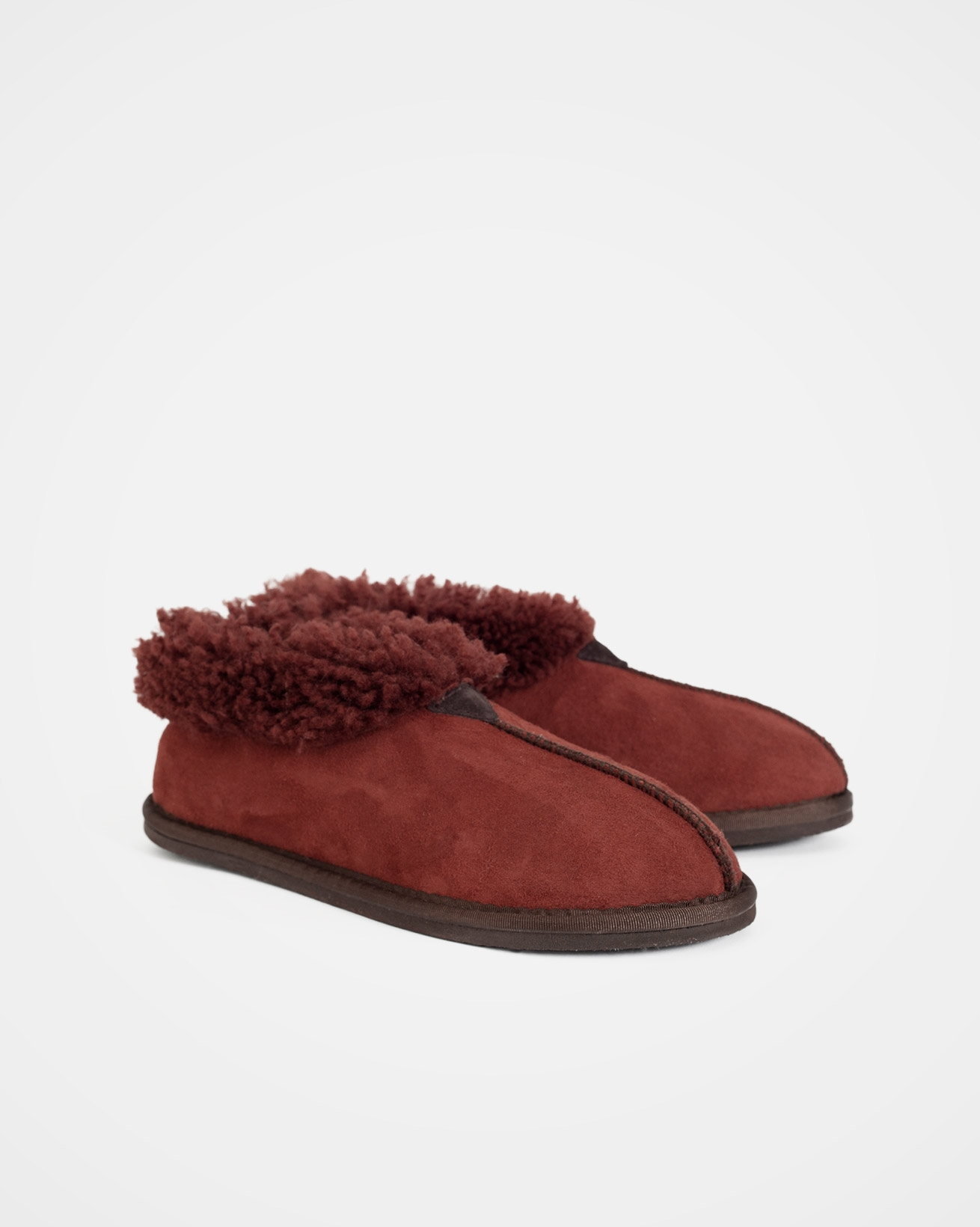 Ladies Sheepskin Bootee Slipper - Size 5 - Conker - 1579