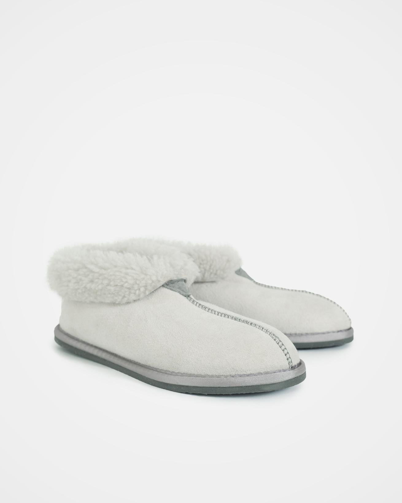 Ladies Sheepskin Bootee Slipper - Size 7 - Winter White - 1578