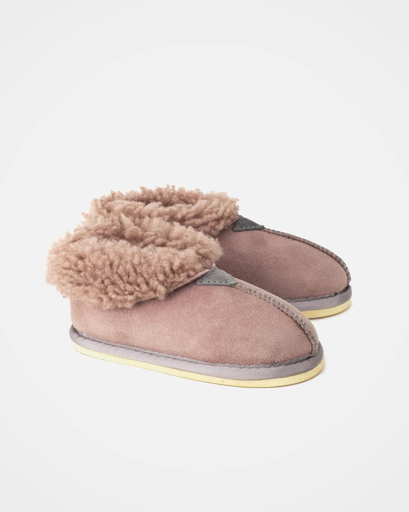 Kids Bootee Slipper- Size 9-10 - Dusty Pink - 1596