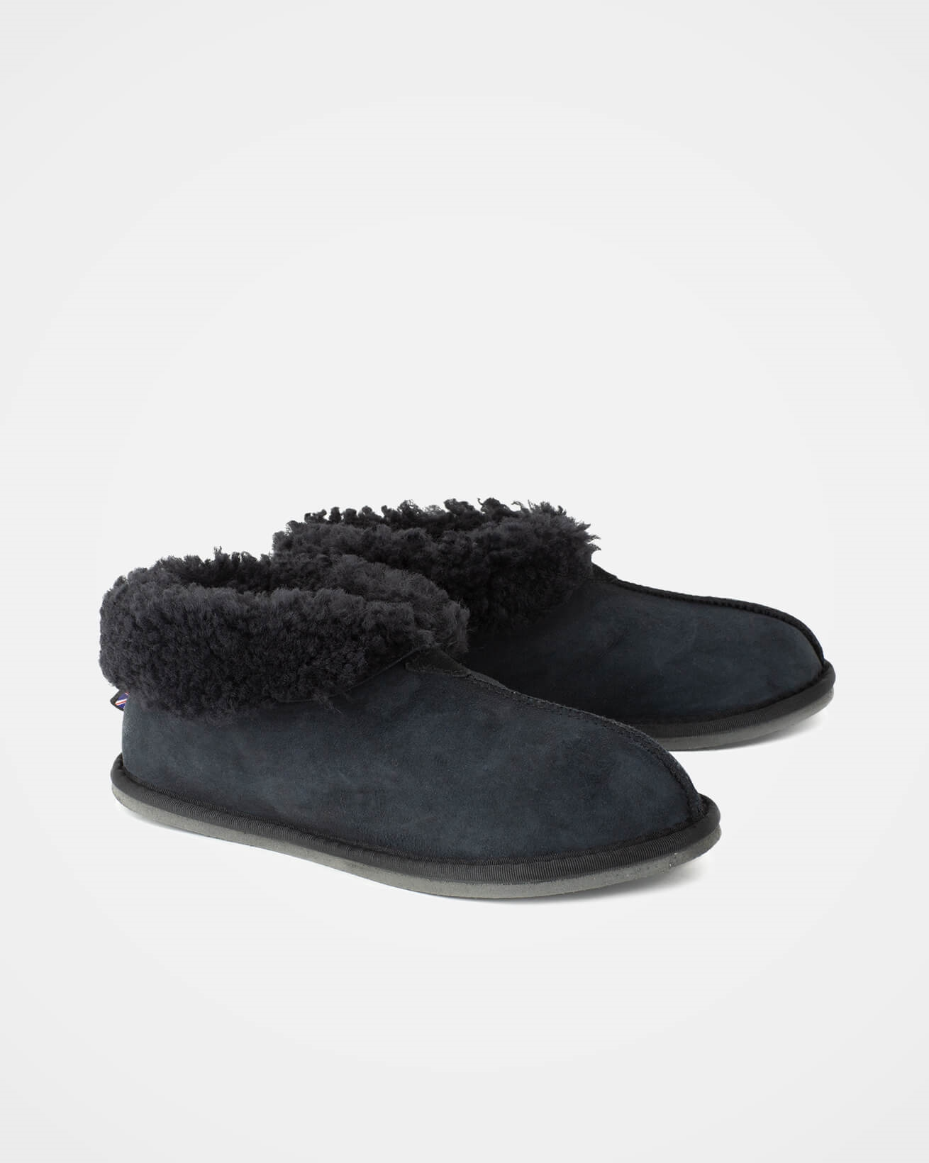Mens Sheepskin Bootee Slippers - Size 10 - Navy - 2084