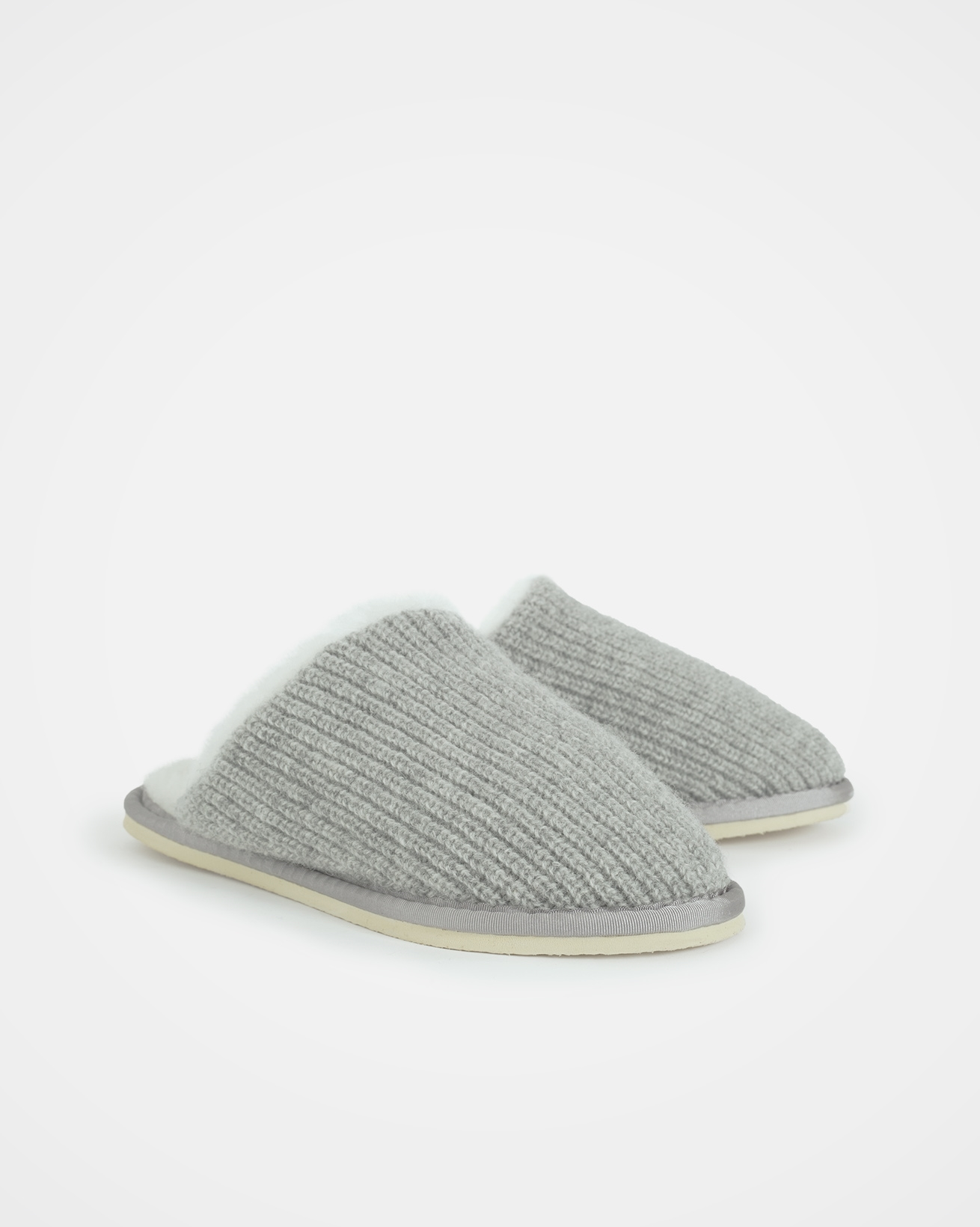 Knitted Mules - Size 8 - Silver Grey - 2028