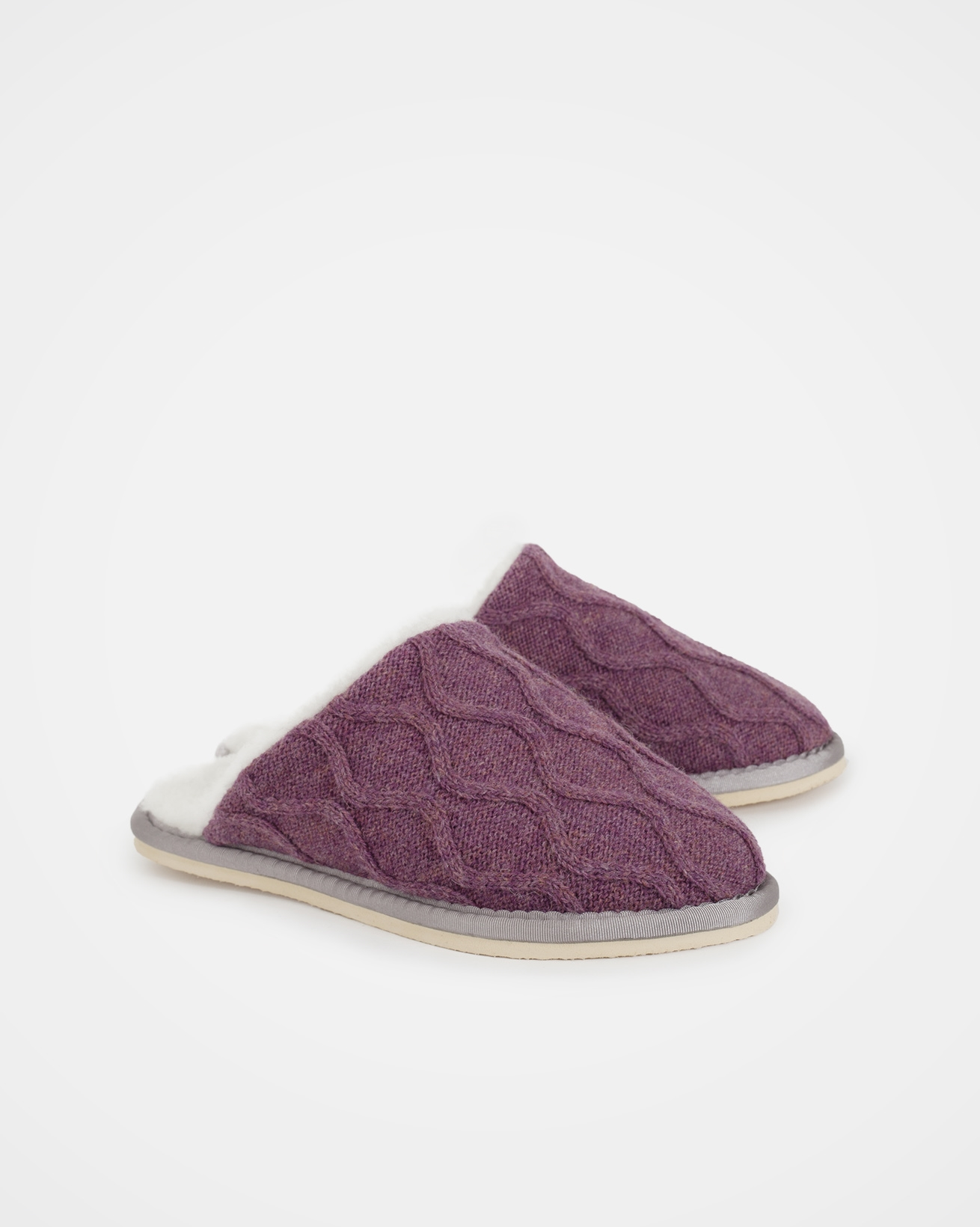 Knitted Mules - Size 6 - Sloeberry - 1621